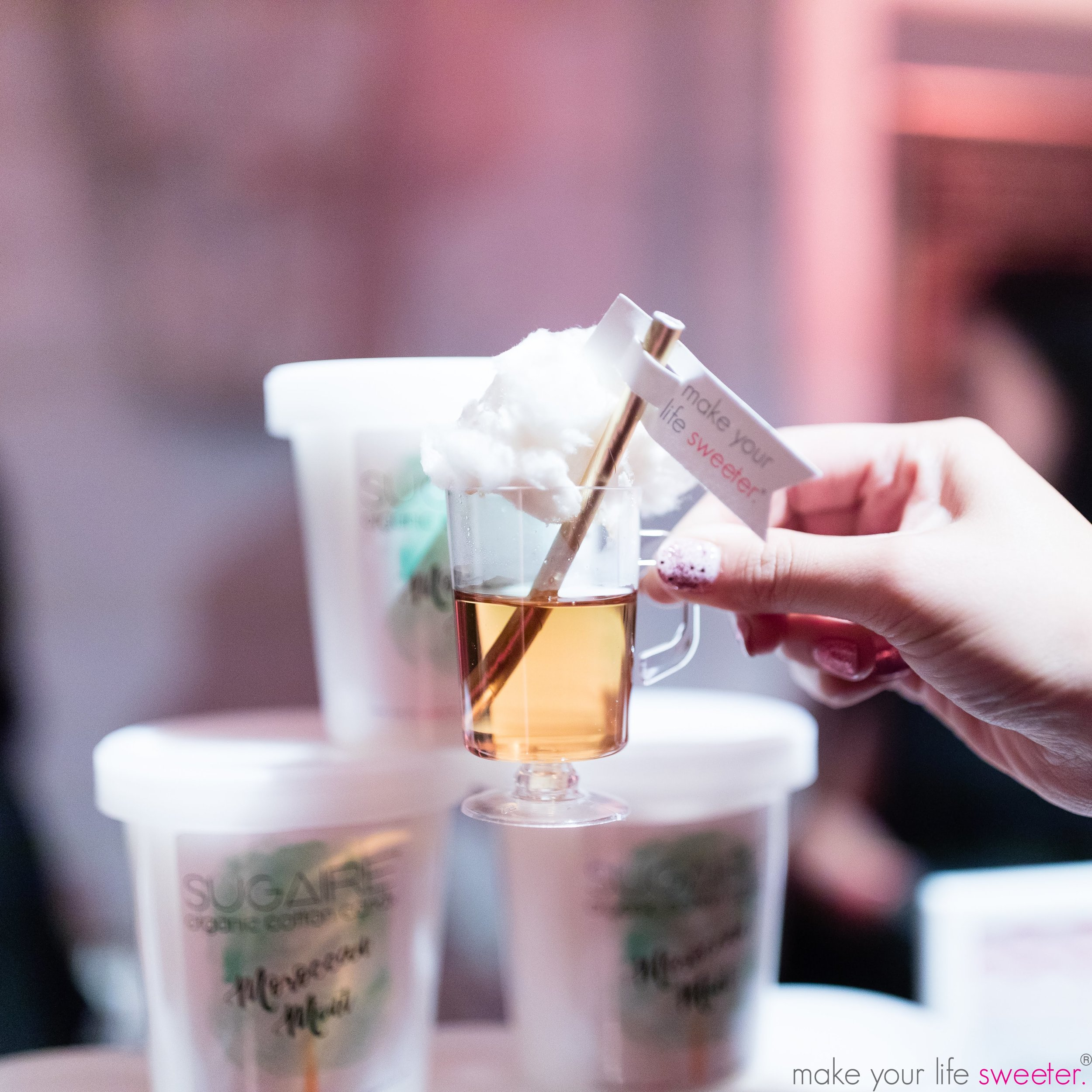 Sugaire Organic Cotton Candy Hot Tea Infusion Bar - The Knot Gala