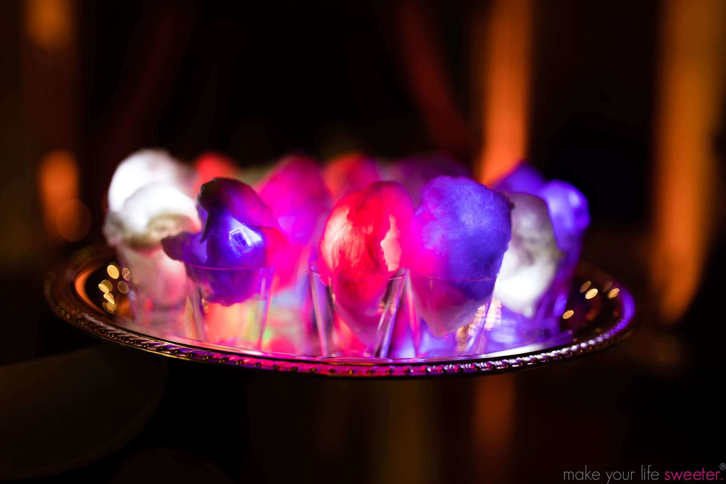 Glow in the Dark Sugaire Organic Cotton Candy - Make Your Life Sweeter Events: The Knot Gala