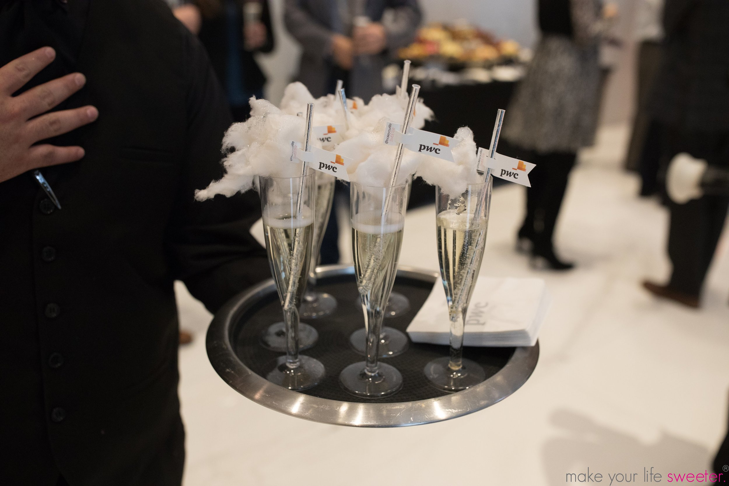 Make Your Life Sweeter Events: PWC Grand Opening - Sugaire Organic Cotton Candy Infusion with Customized PWC Straws