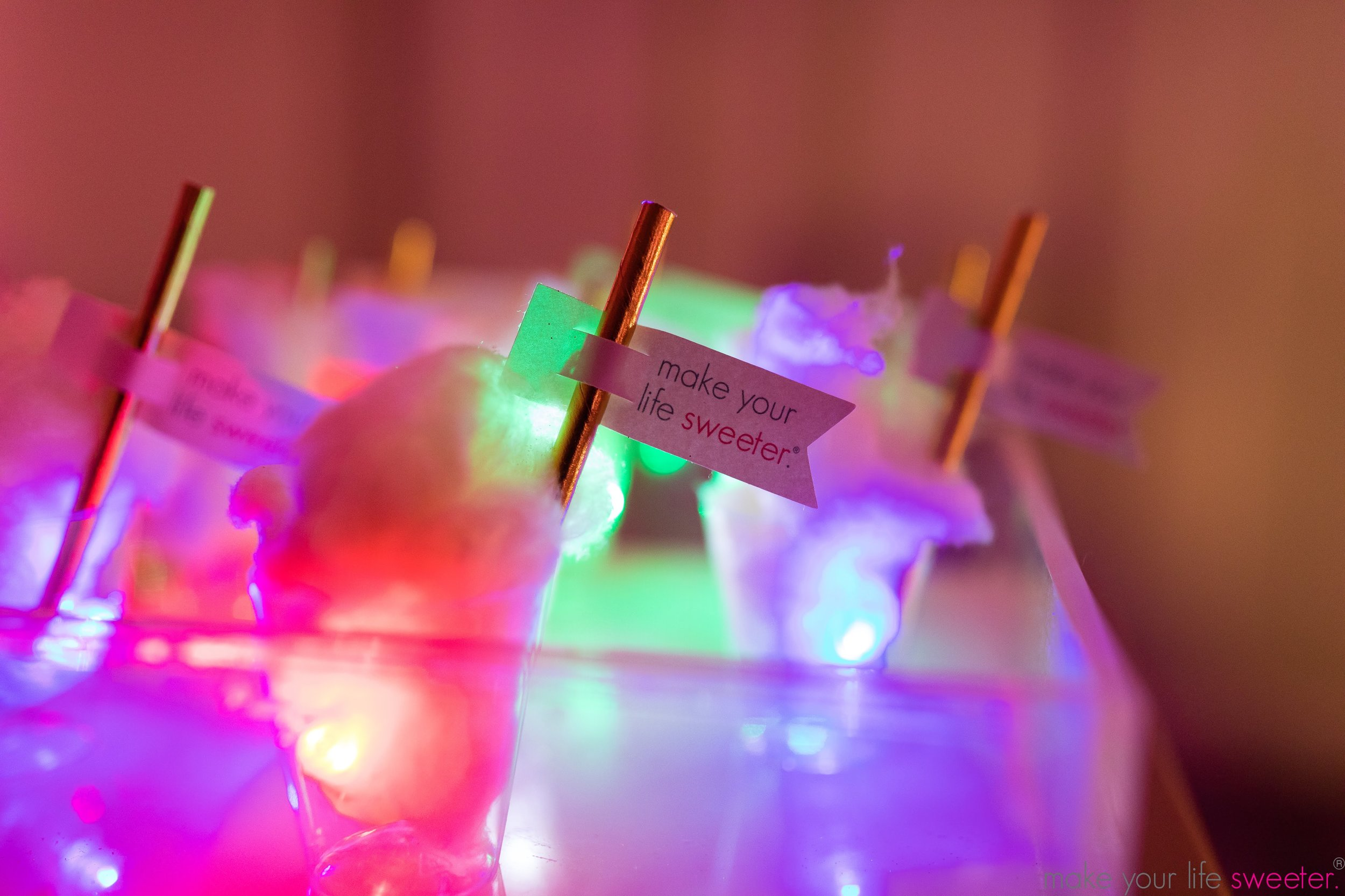 Make Your Life Sweeter Events - Chopra Birthday Party: Sugaire Organic Cotton Candy Tasting Bar