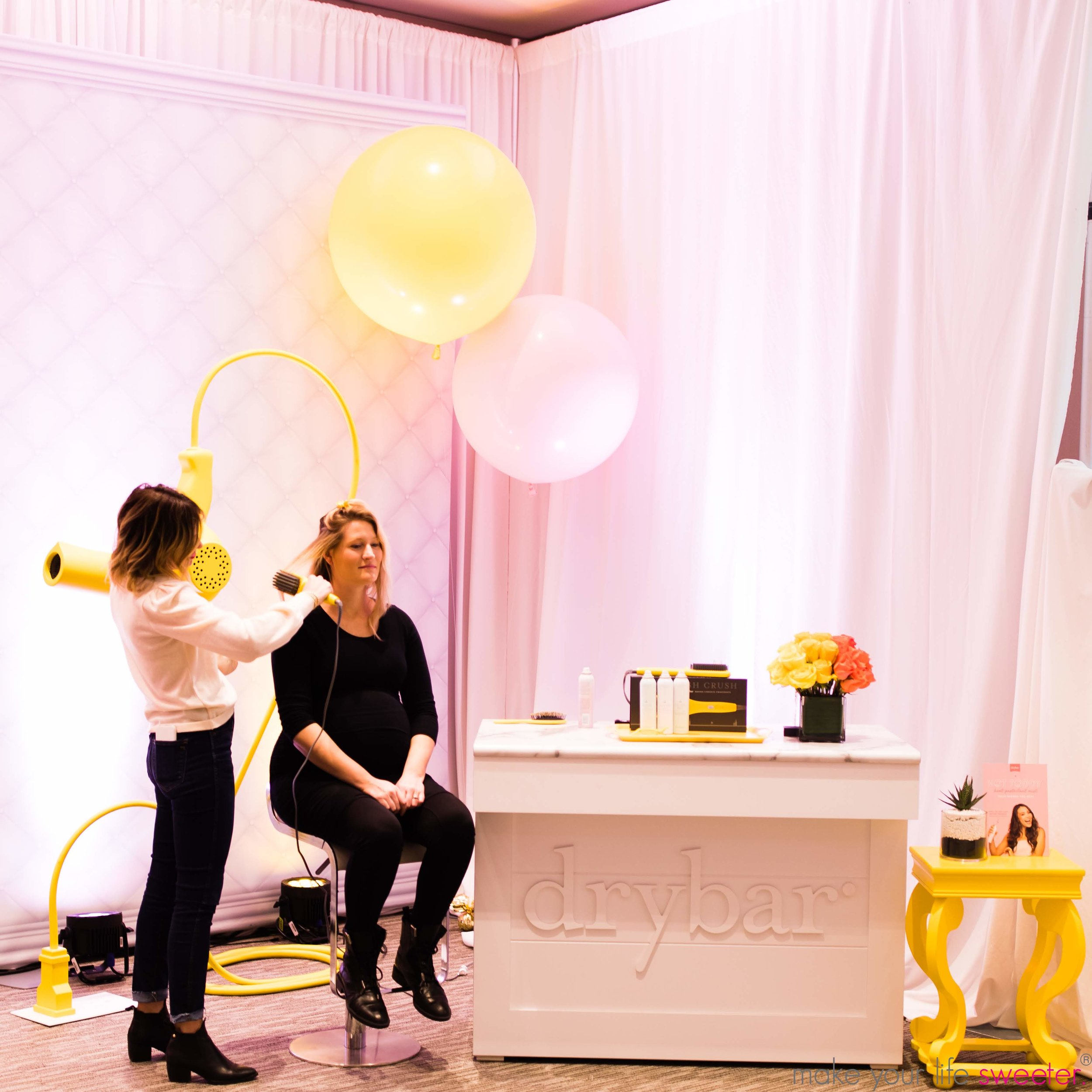 Make Your Life Sweeter Events - DryBar event with Alli Webb