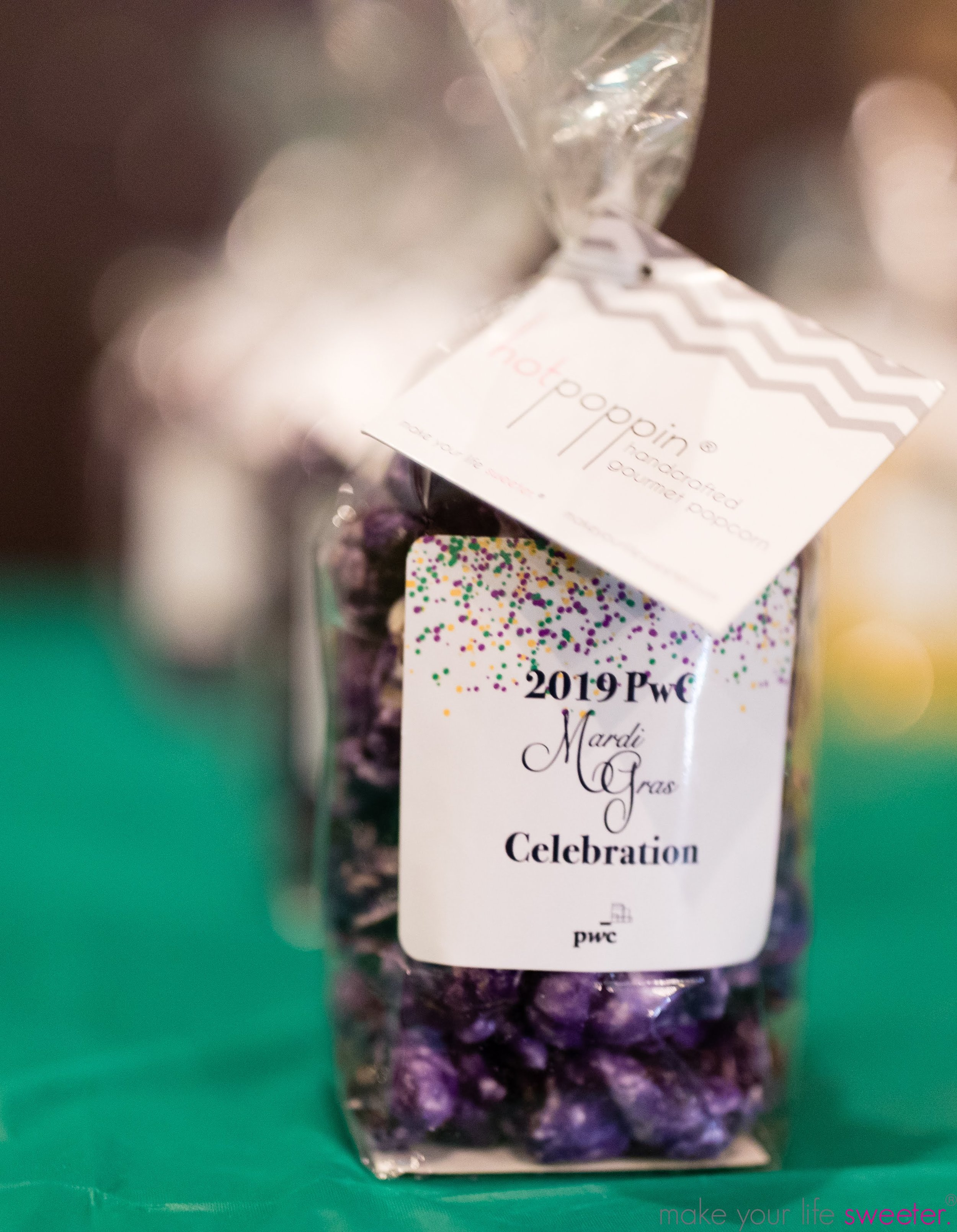 Make Your Life Sweeter Events - PWC New Orleans - Customized HotPoppin Gourmet Popcorn
