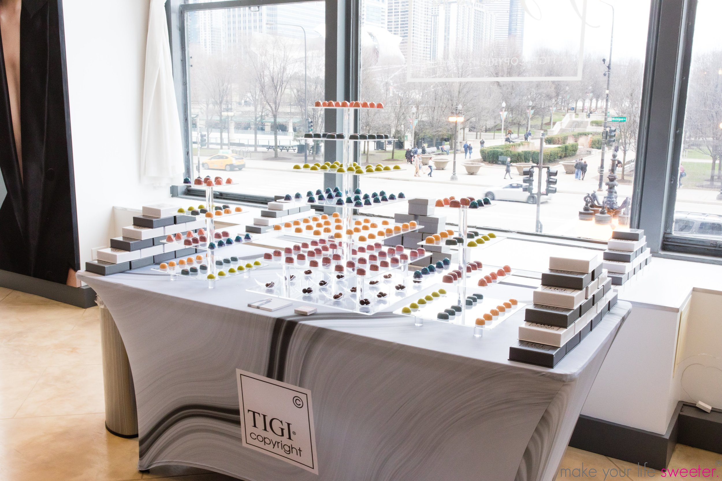 Make Your Life Sweeter Events - TIGI Fuga Centro Salon Opening - Artisanal Truffle Dessert Bar