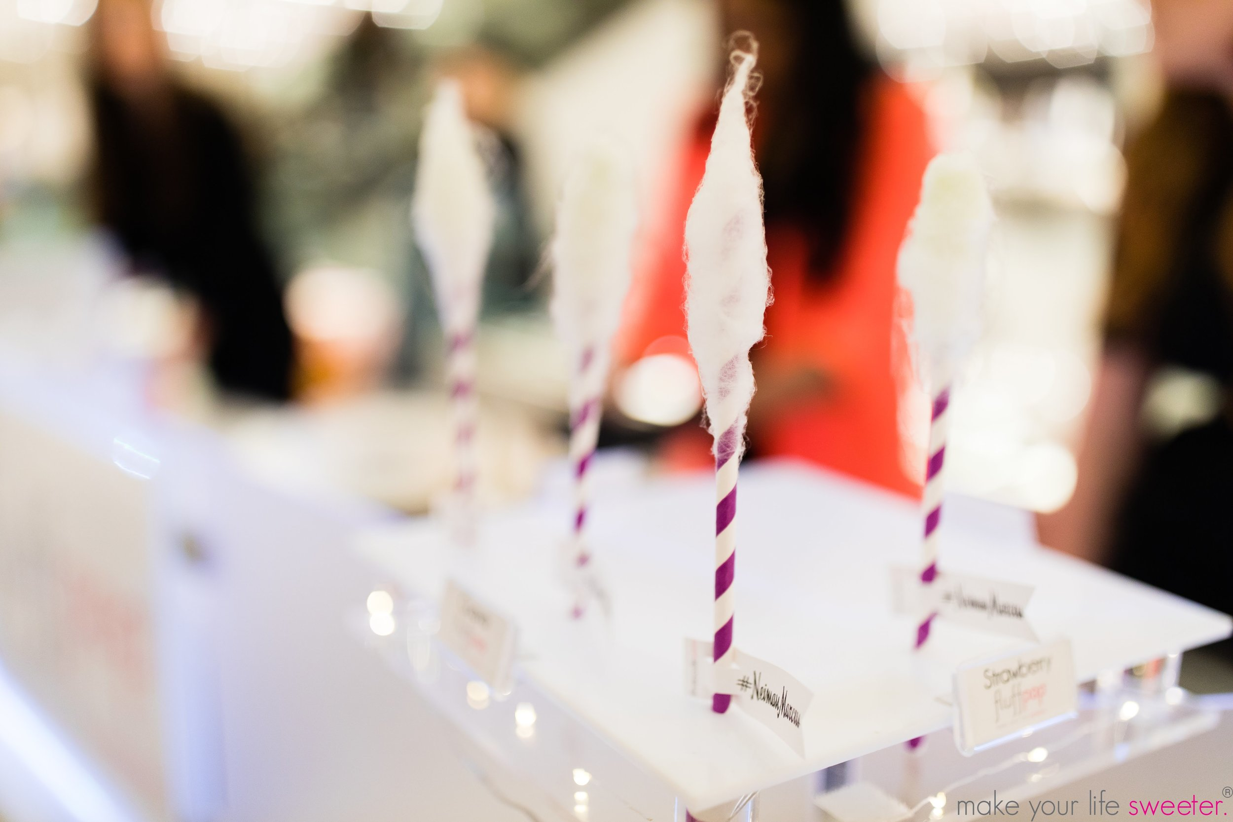 Make Your Life Sweeter Events - Neiman Marcus Hudson Yards Event - Fluffpop Artisanal Gourmet Cotton Candy