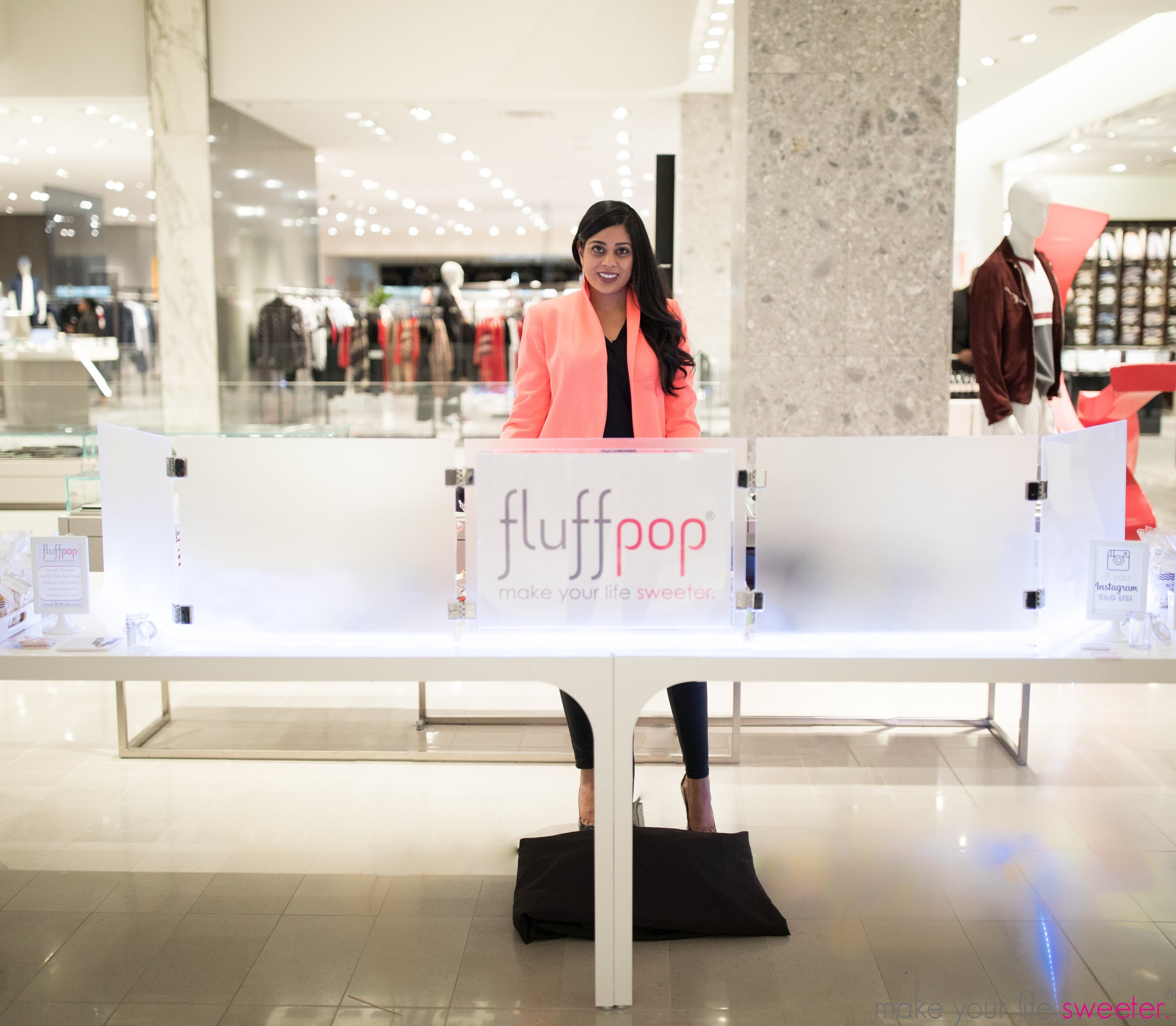 Make Your Life Sweeter Events - Fluffpop artisanal miniature cotton candy - Neiman Marcus Hudson Yards