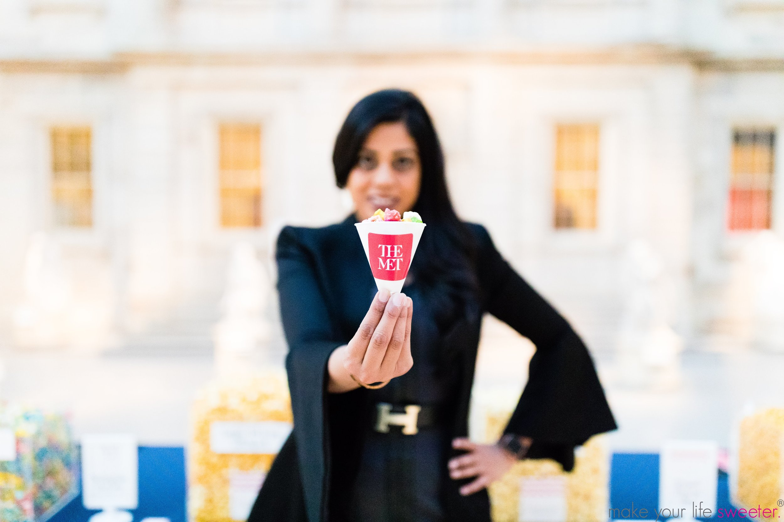 Make Your Life Sweeter Events - The Met Grand Tour - HotPoppin Gourmet Popcorn Bar with customized Met cones