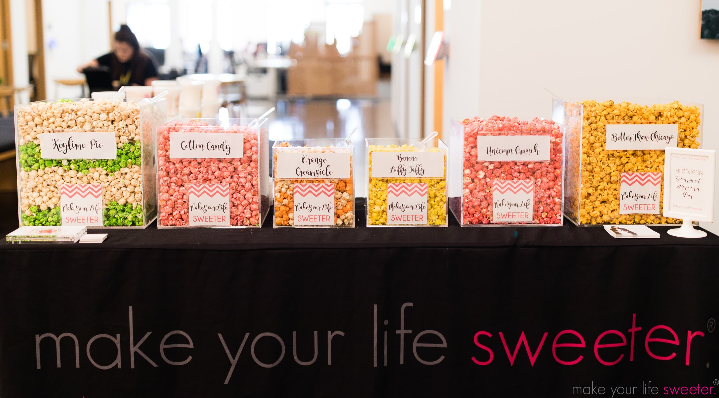 Make Your Life Sweeter Events - Facebook NYC Bring Your Kids to Work Day - HotPoppin Gourmet Popcorn Bar
