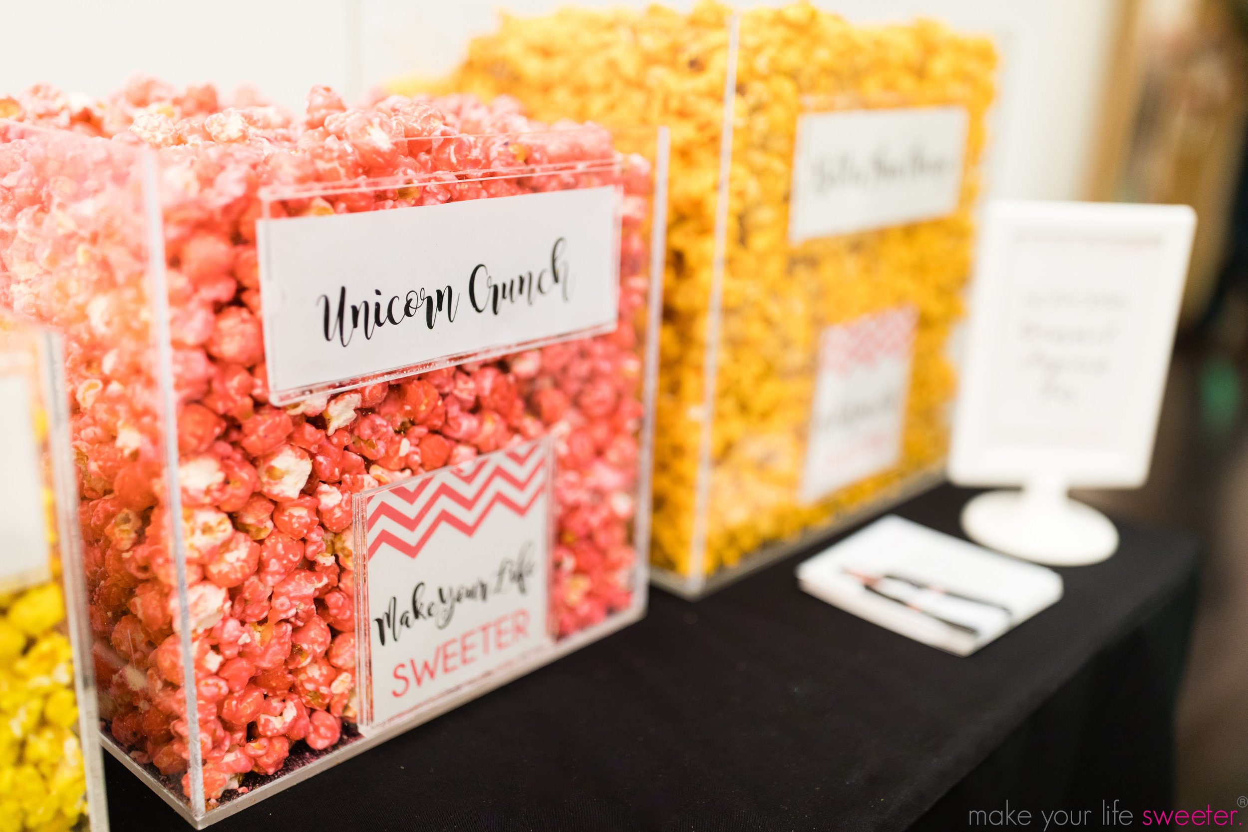 Make Your Life Sweeter Events - Facebook NYC - HotPoppin Gourmet Popcorn Bar