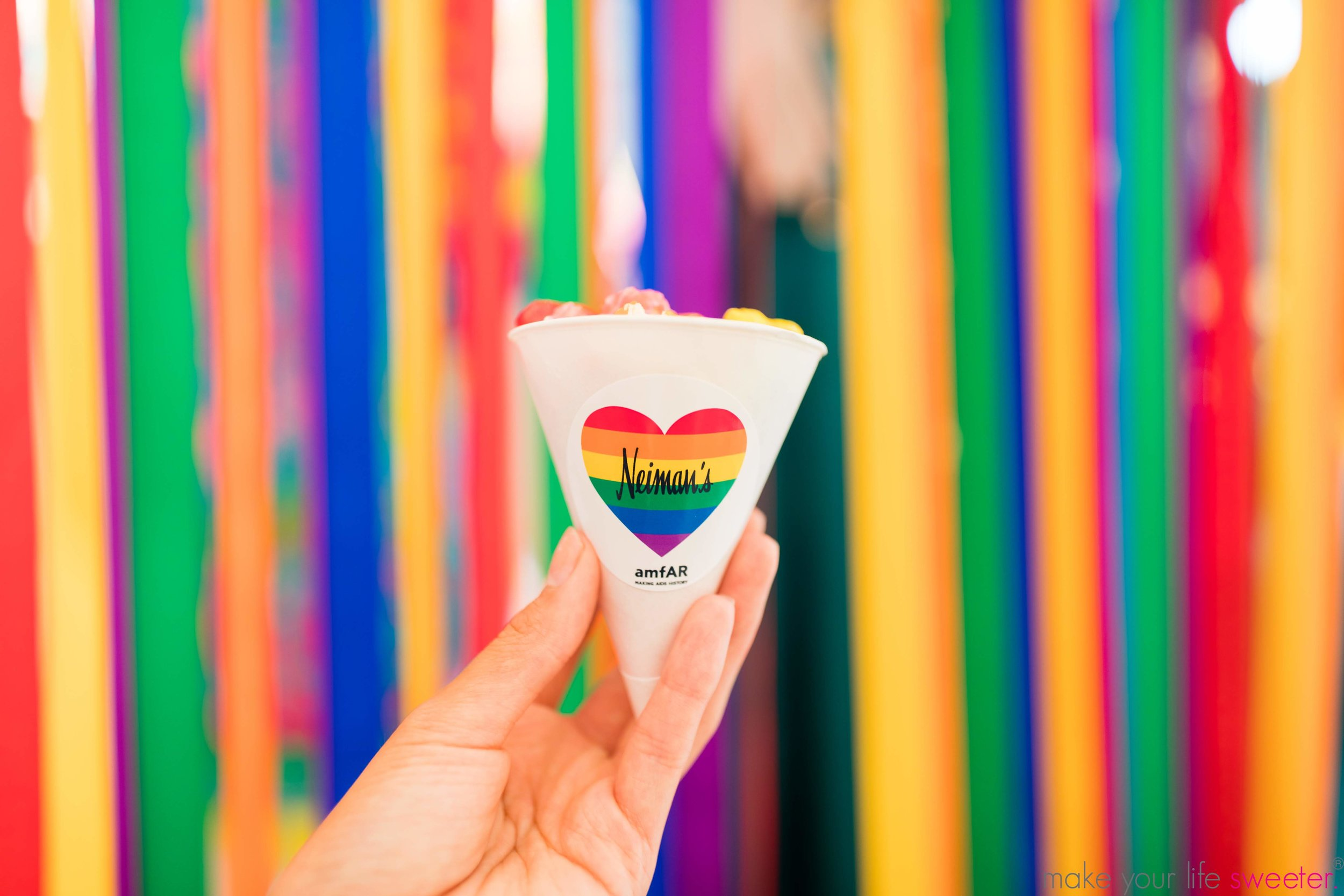 Make Your Life Sweeter Events - Neiman Marcus Hudson Yards Pride Event - Custom Neiman Marcus Labeled Hotpoppin Gourmet Popcorn
