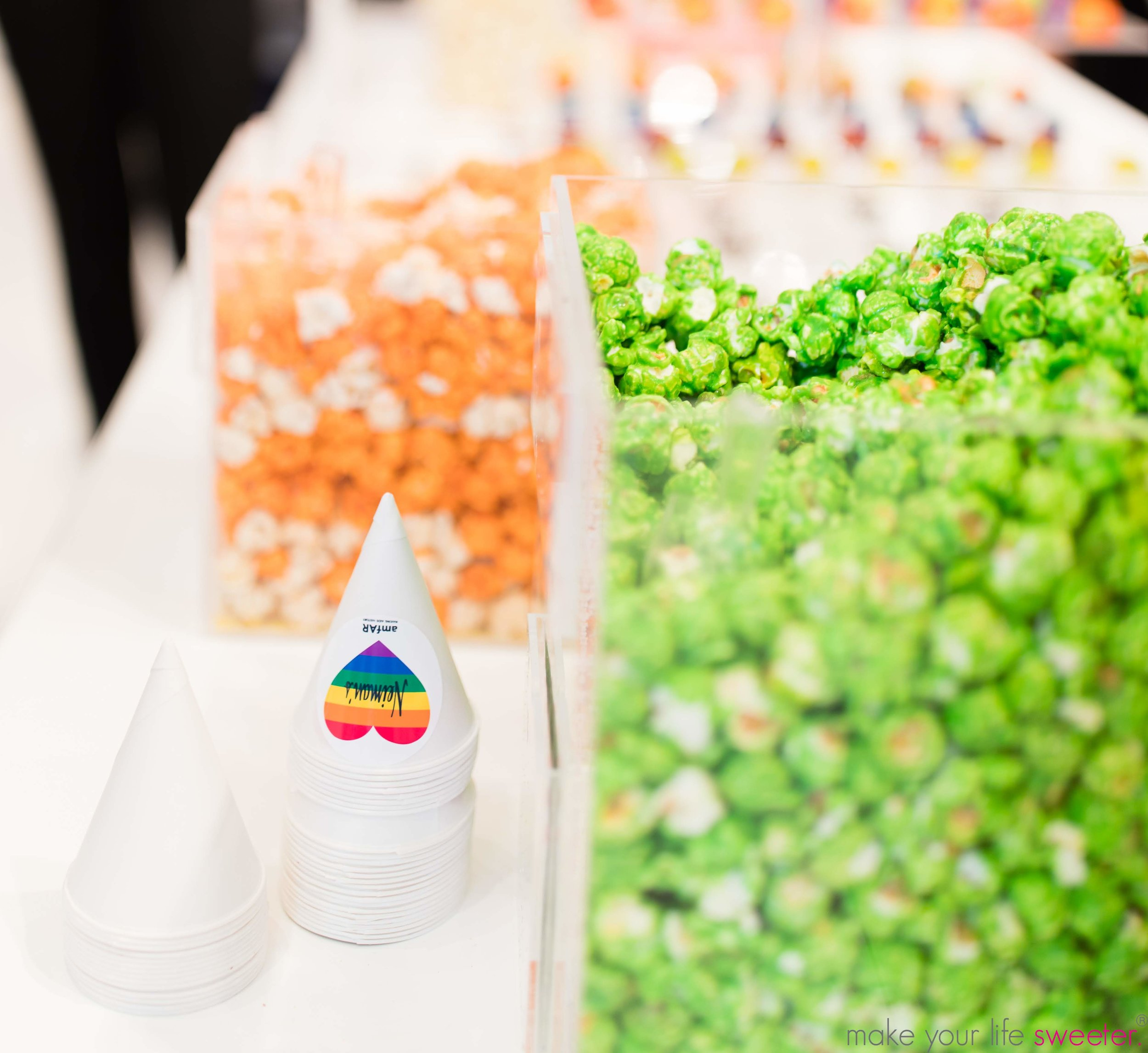Make Your Life Sweeter Events - Neiman Marcus Hudson Yards Pride Event - Customized Neiman Marcus HotPoppin Gourmet Popcorn Bar