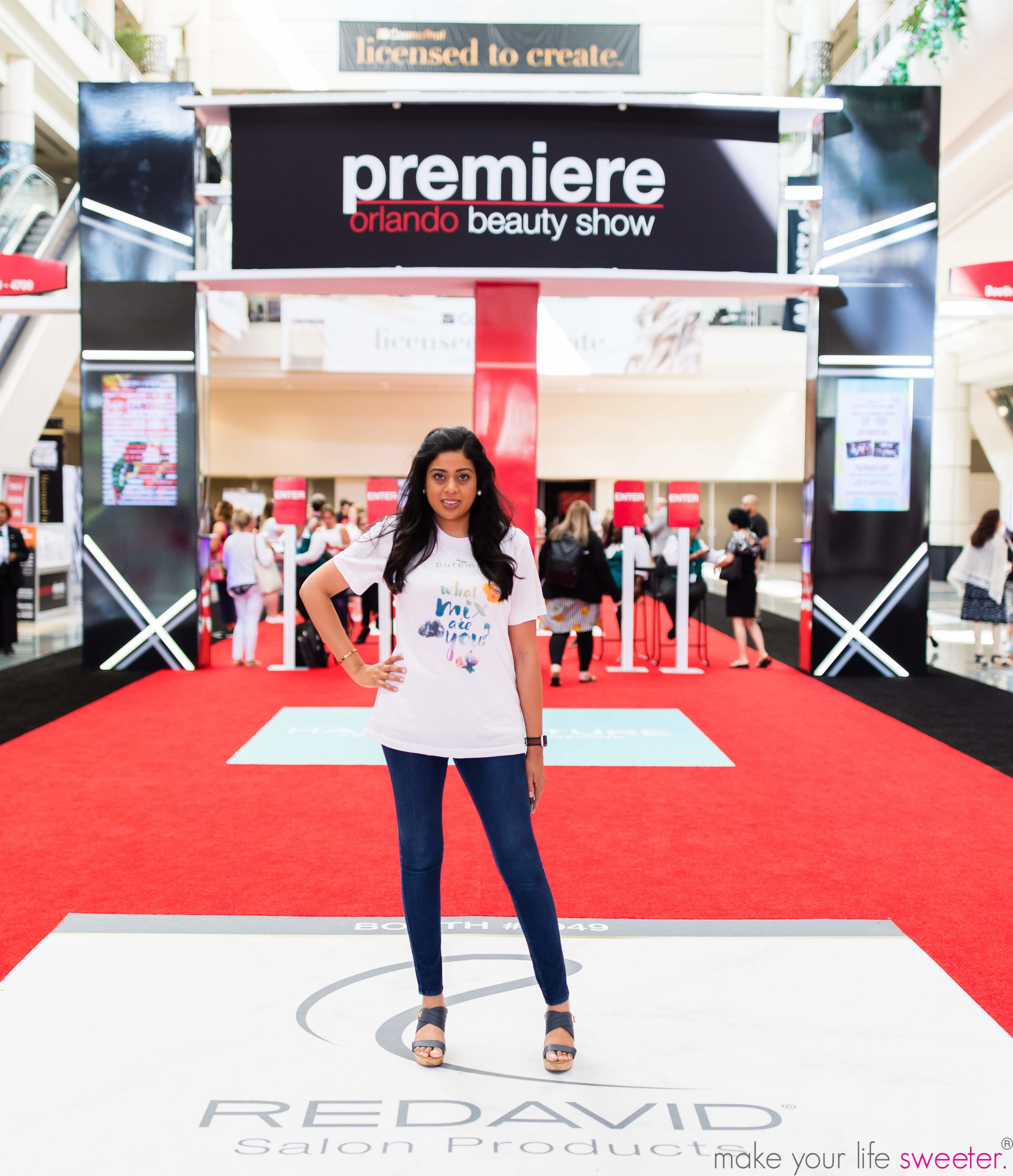 Make Your Life Sweeter Events - Yasmeen Tadia at Premier Orlando Beauty Convention - Coanir Puremix Event