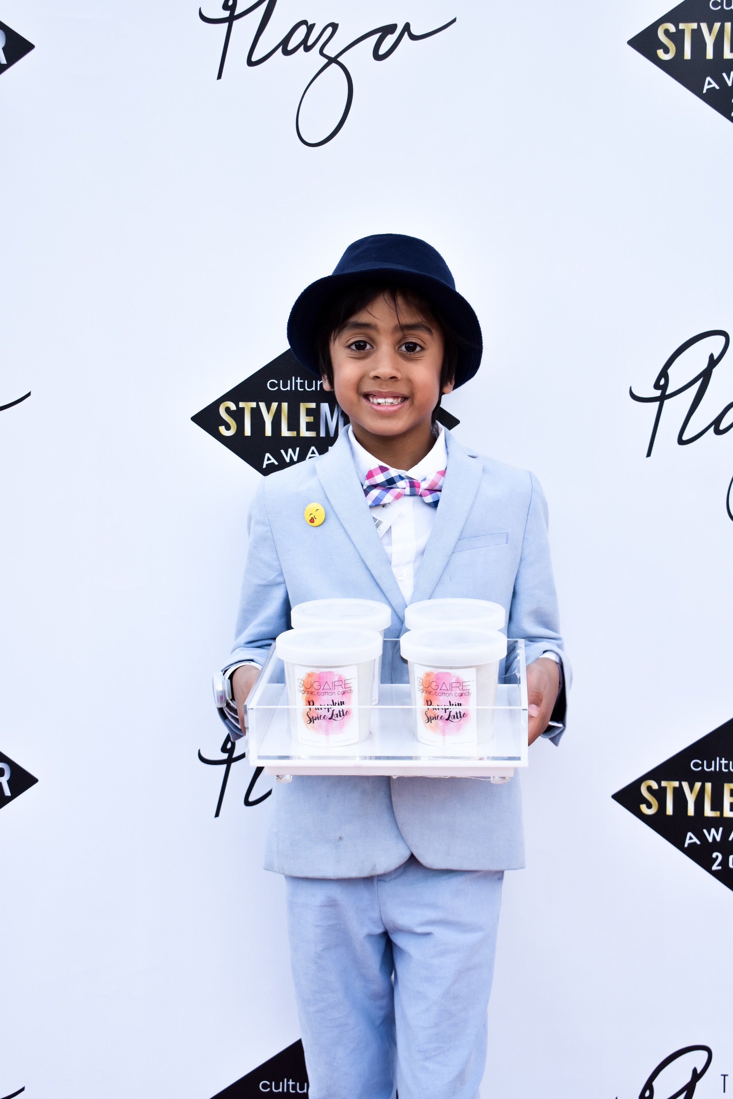 Make Your Life Sweeter Events - CultureMap StyleMaker Awards - Zain Tadia holding Sugaire Organic Cotton Candy