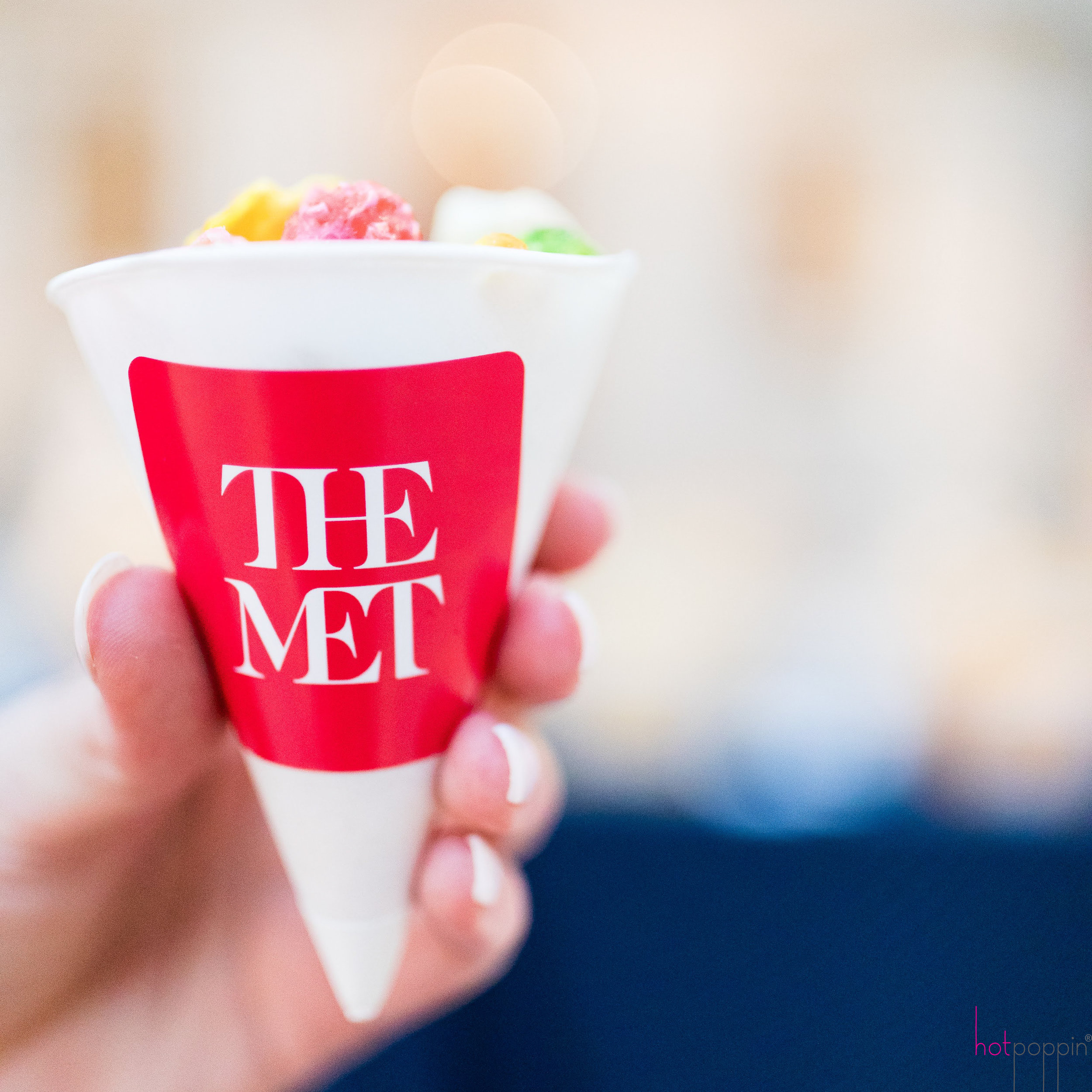 Make Your life Sweeter Events - The Met Custom Popcorn Cone