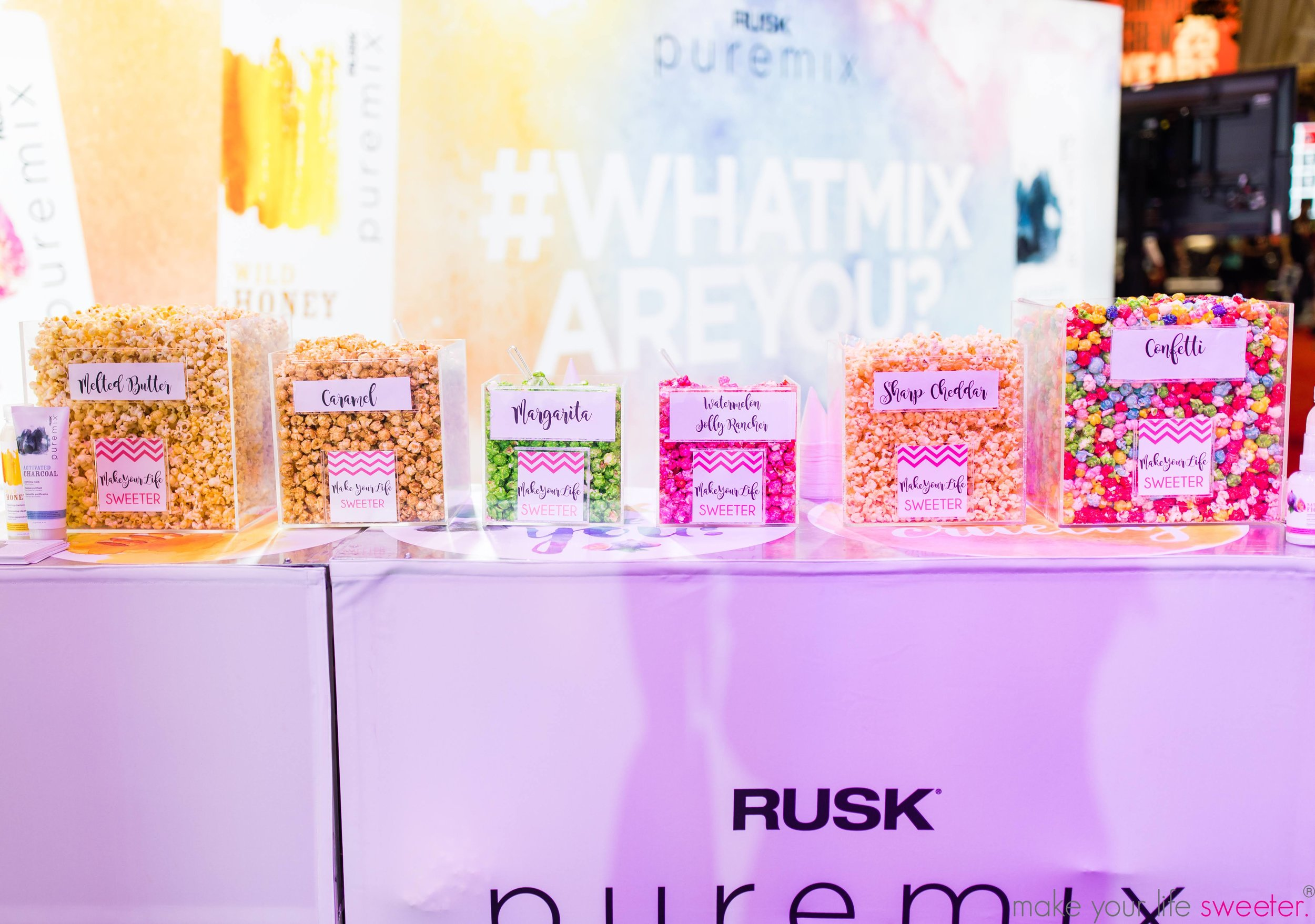 Make YourLife Sweeter Events - Conair Puremix Premier Orlando Convention - Hotpoppin Gourmet Popcorn Bar