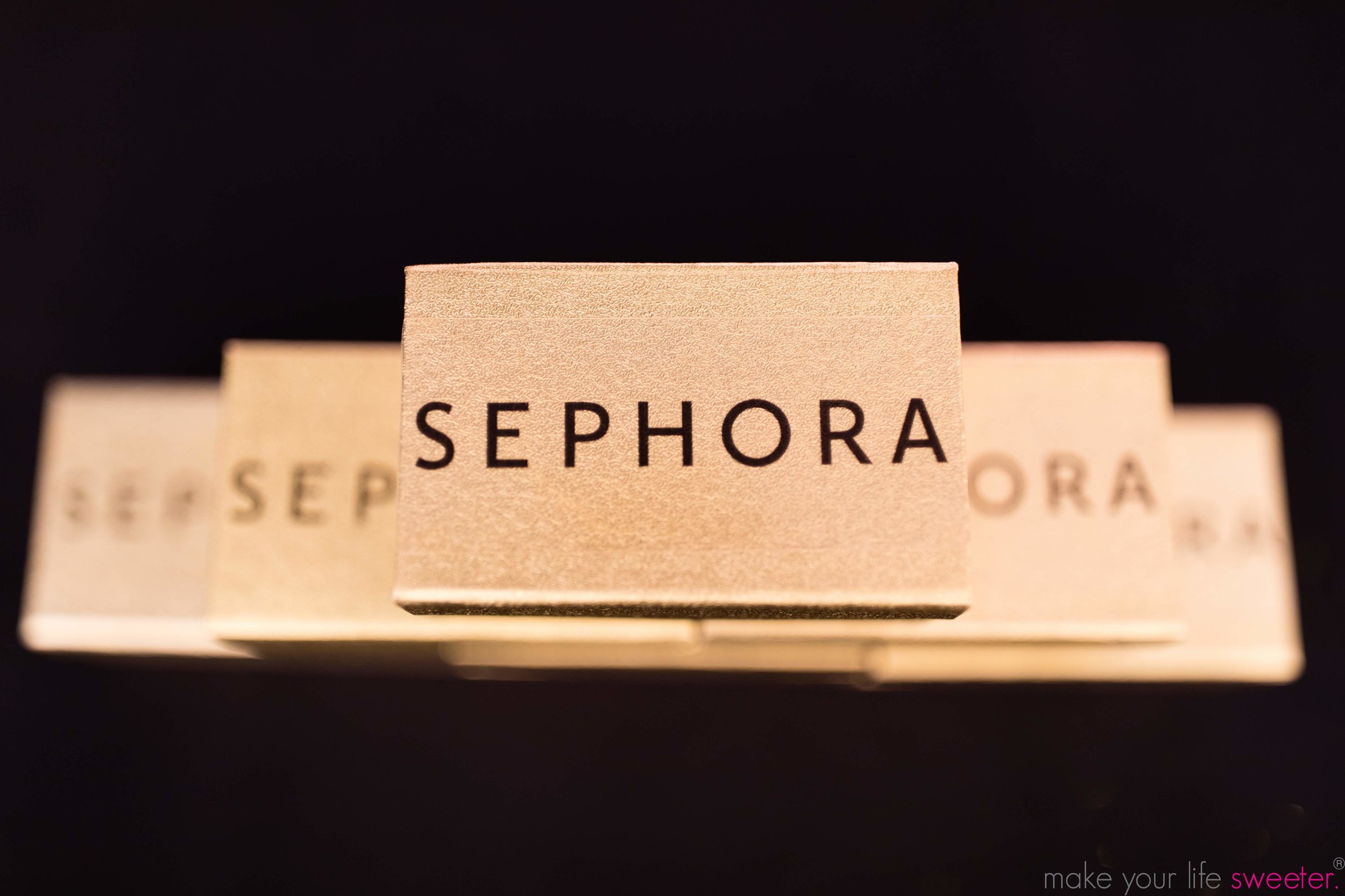 Make Your Life Sweeter Events: Sephora Hudson Yards - 2 Piece Customized Gold Chocolate Boxes