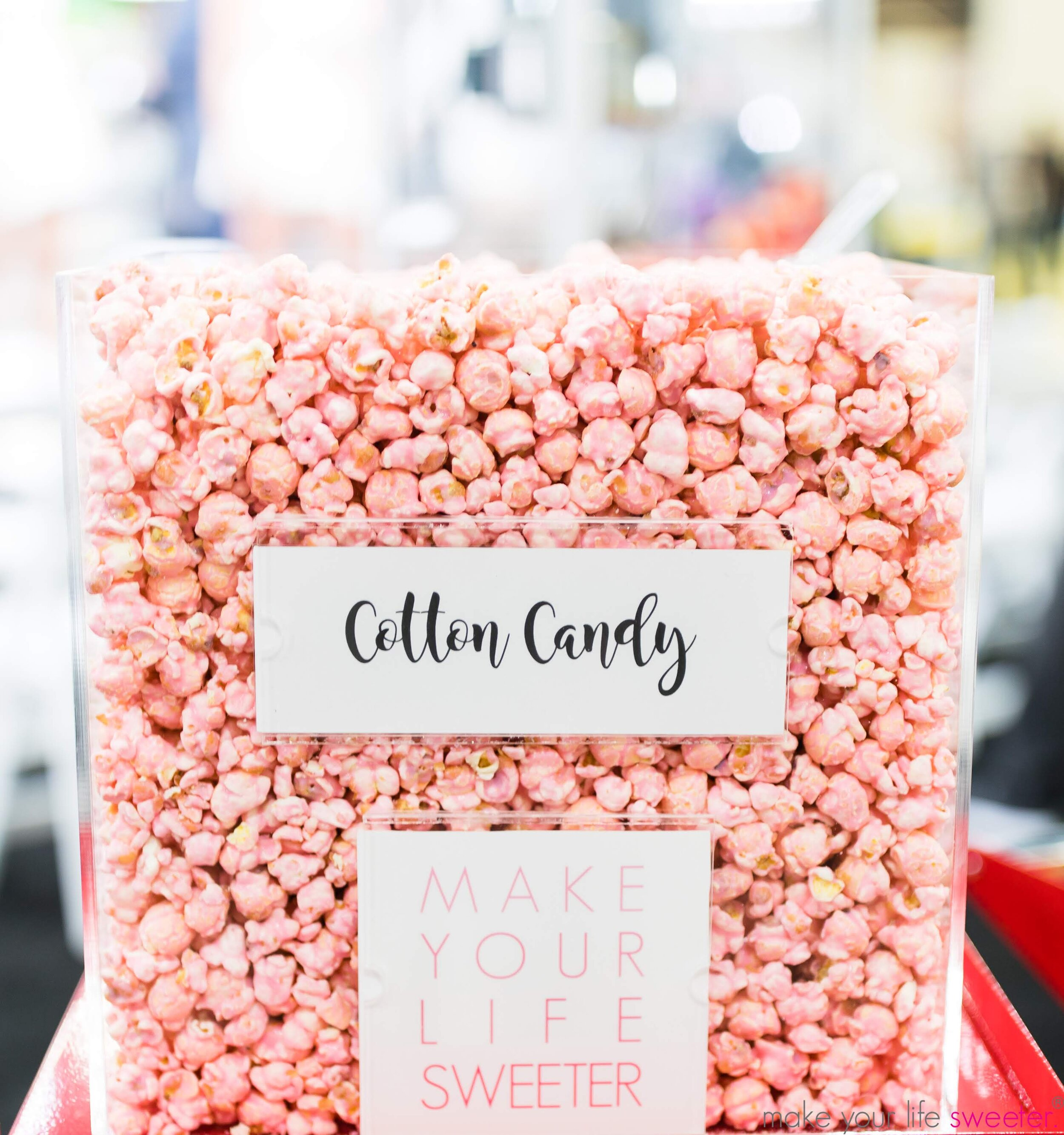 Make Your Life Sweeter Events - Amrstong McCall World's Fair Hair Show: Conair Booth - Hotpoppin gourmet popcorn: Cotton Candy Flavor