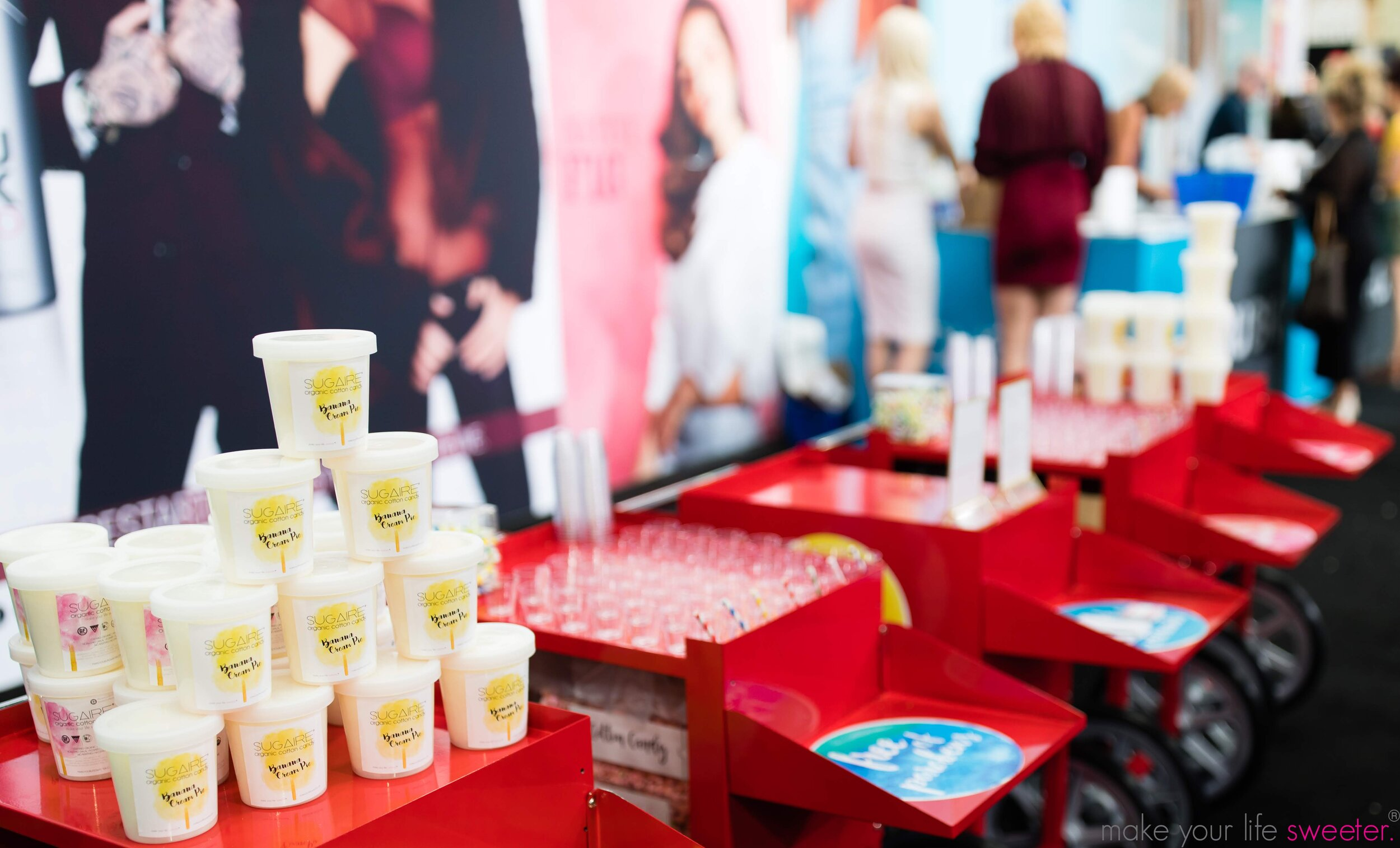 Armstrong McCall World's Fair Hair Show: Conair Booth - Sugaire Organic Cotton Candy Tasting Bar: Banana Cream Pie