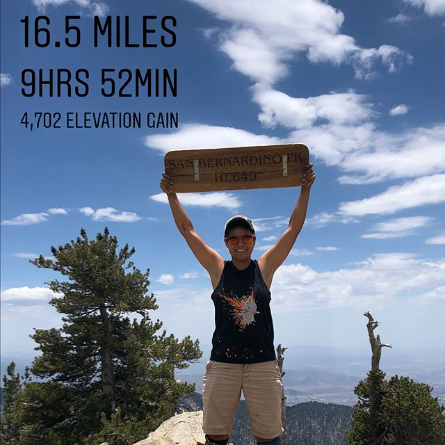 On my 34th birthday, we hiked San Bernardino peak. 16miles just under our goal time of 10hrs. Also forest fires are real good reminder that the wild is wild.