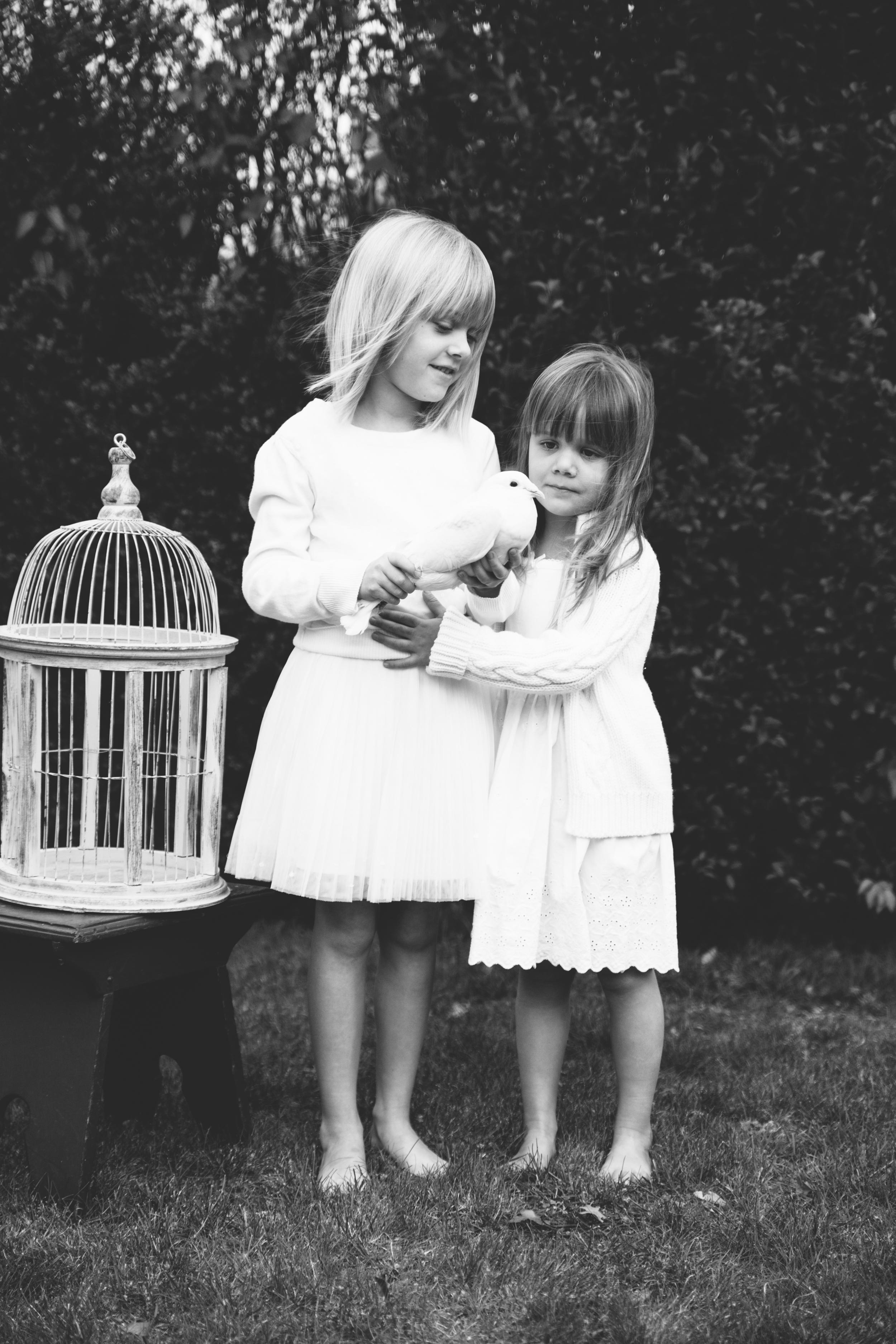 girls w bird bw.jpg