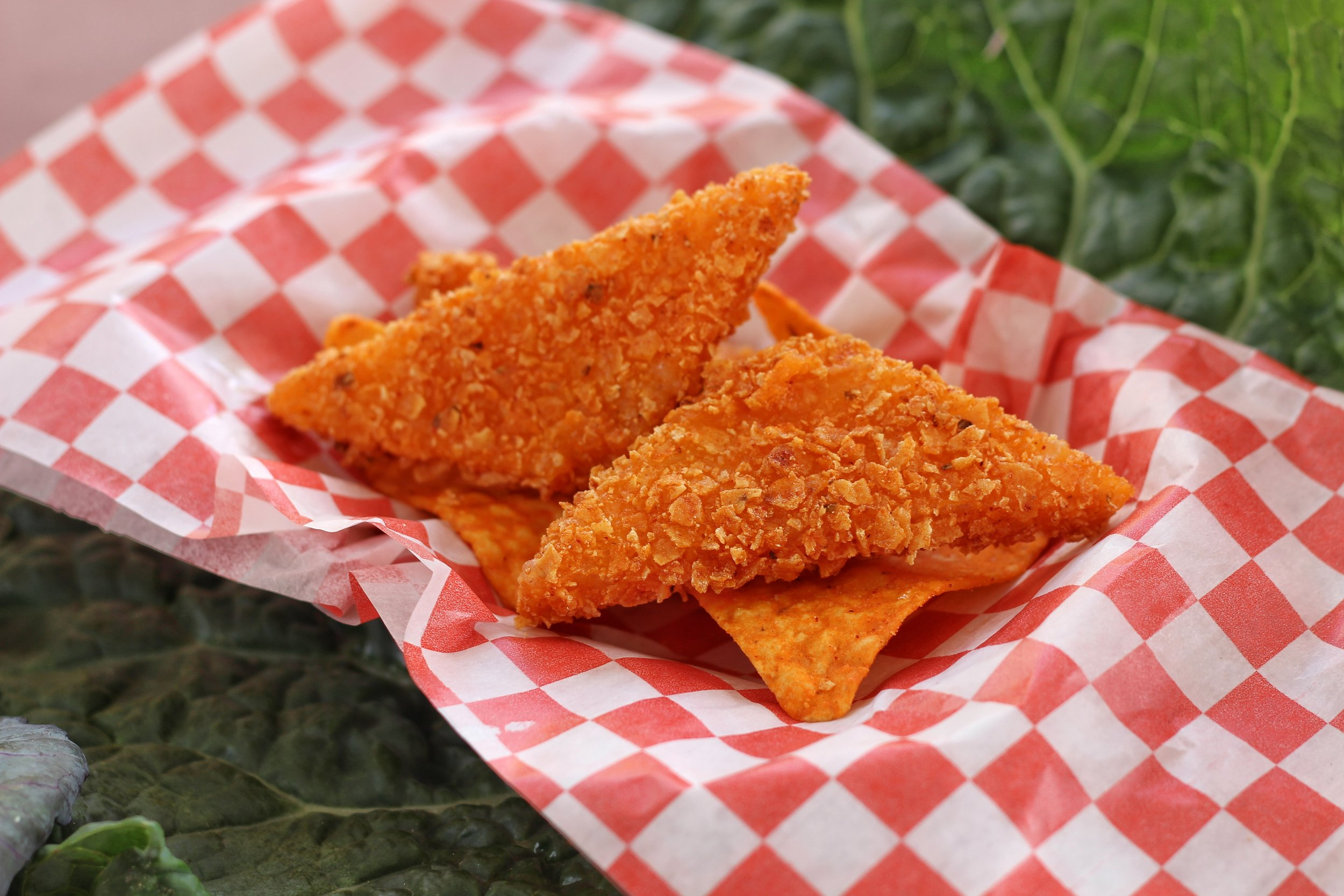 Marble cheddar coated in a Dorito crust and deep fried.
