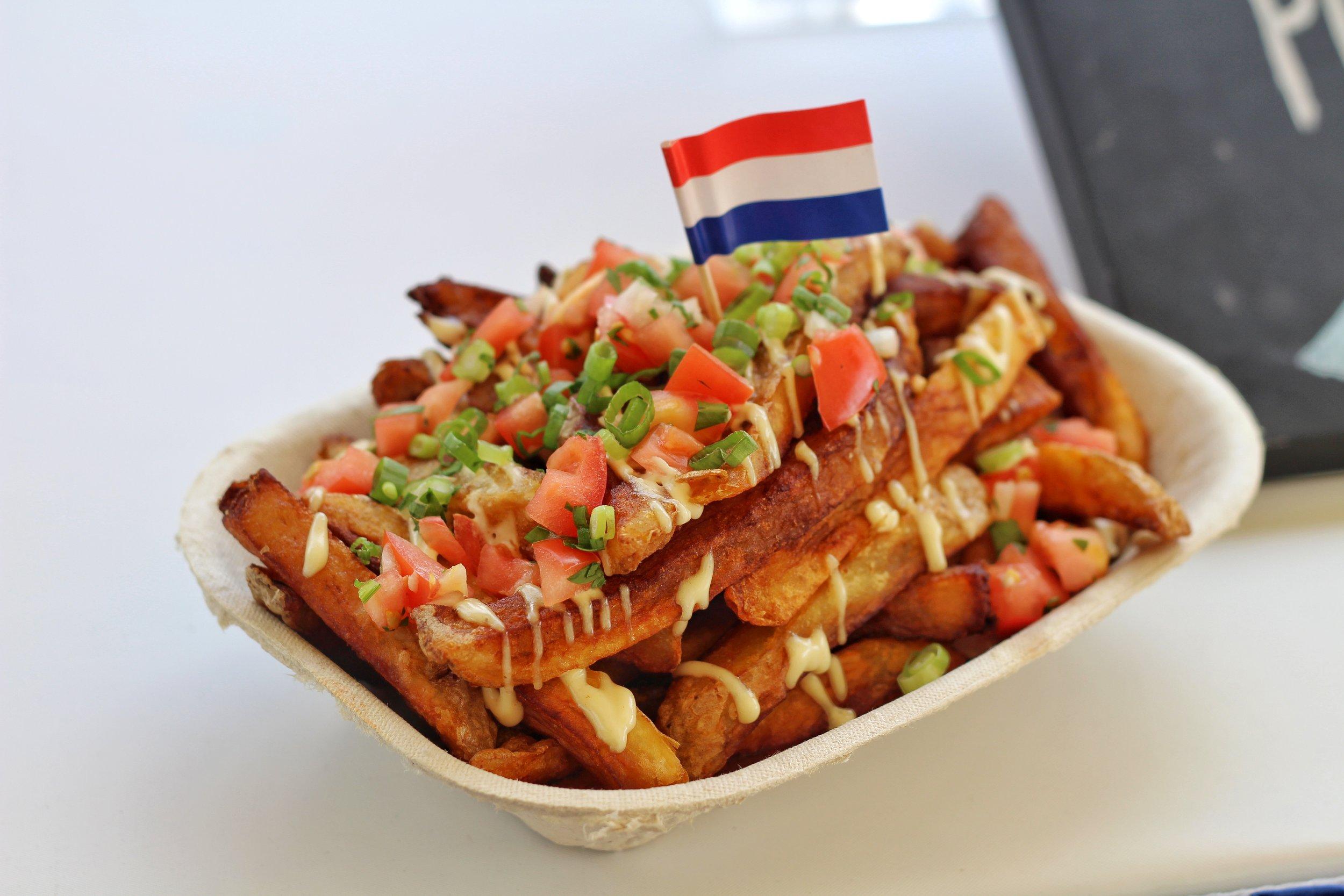 Crispy hand-cut fries in partnership with the vegan Toronto restaurant Planta.