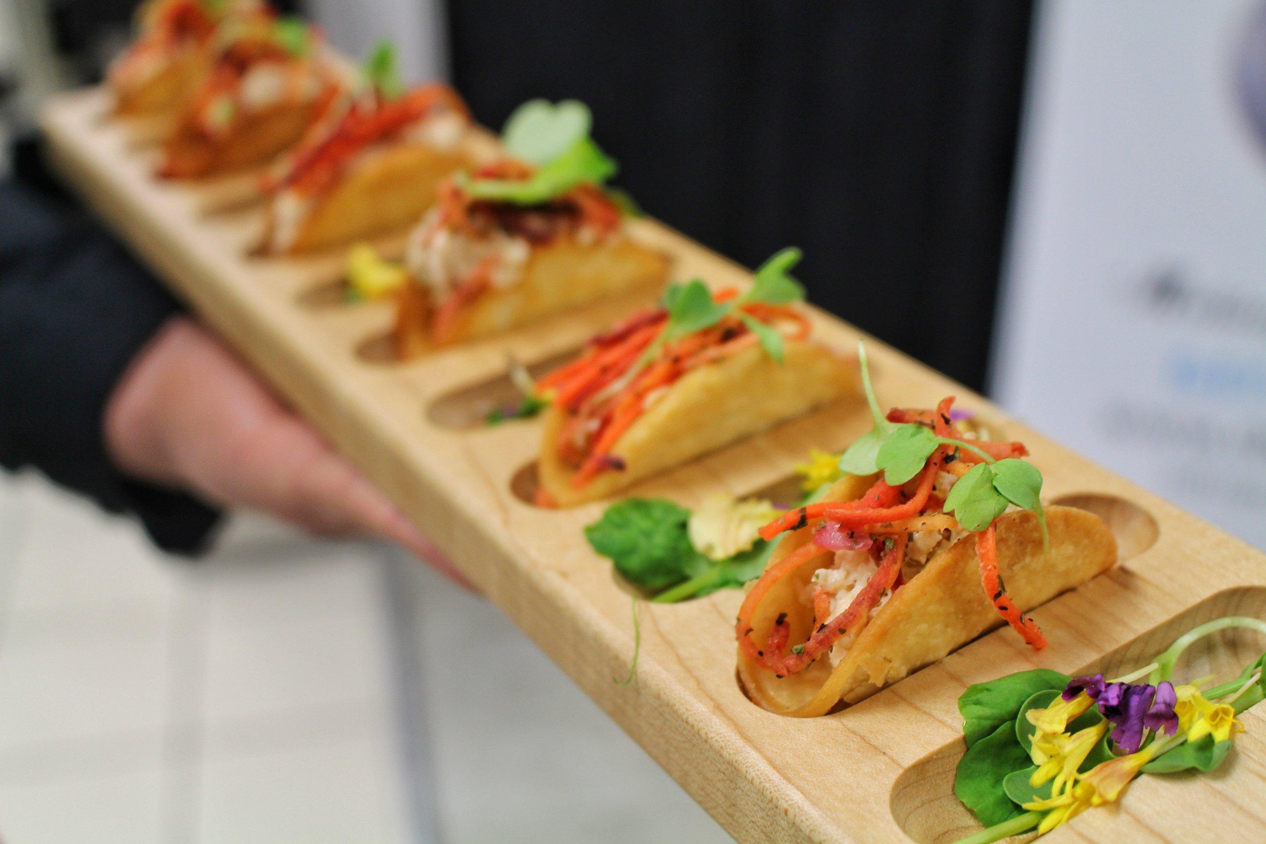 Mini lobster Taco's with a Kewpie & Heirloom Carrot Slaw