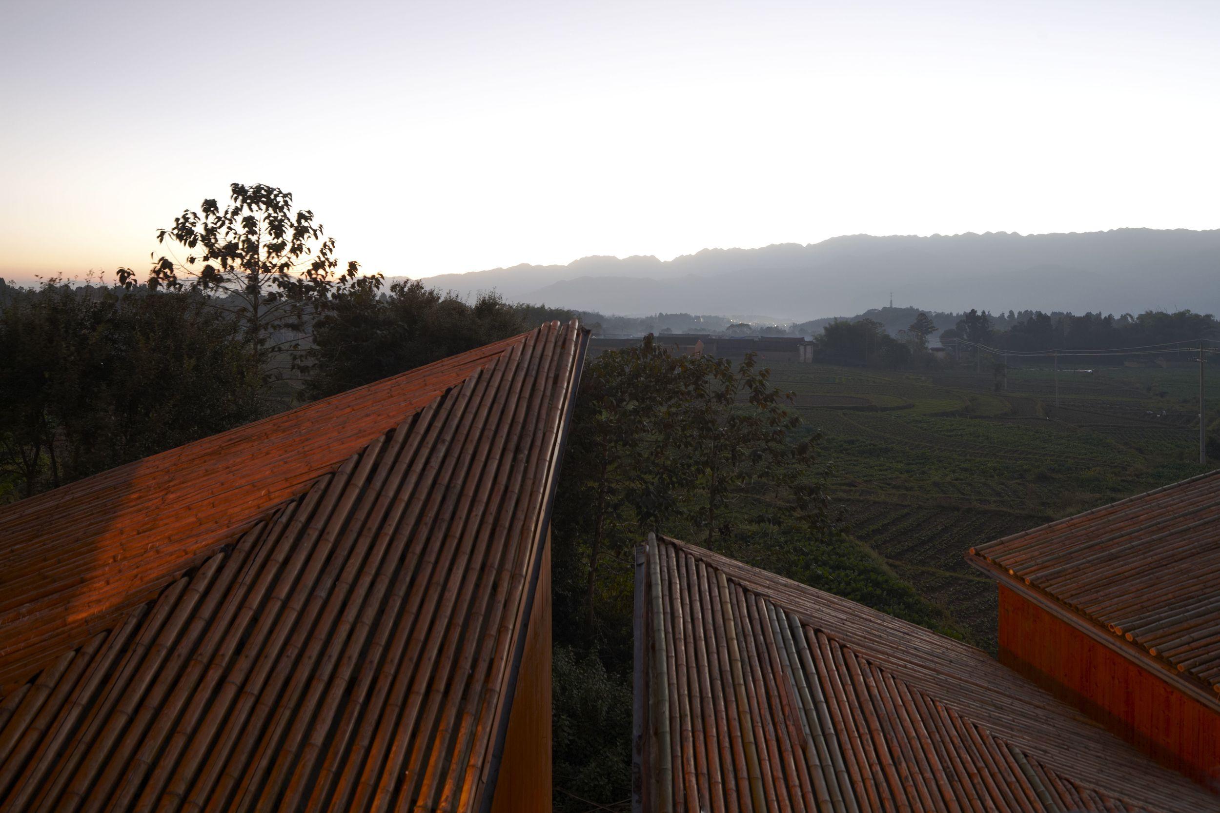 竹屋面 bamboo roof