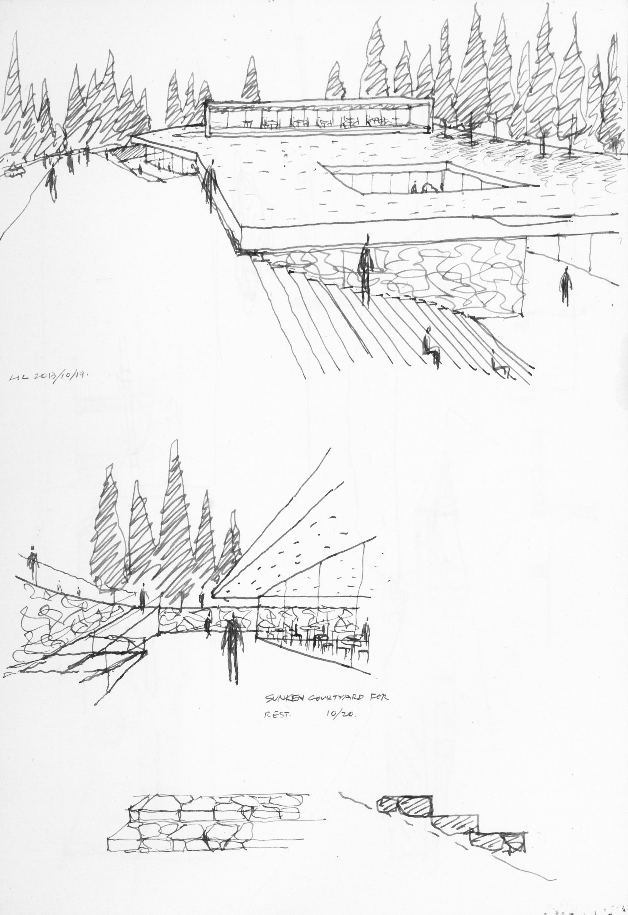天池游客中心透视图