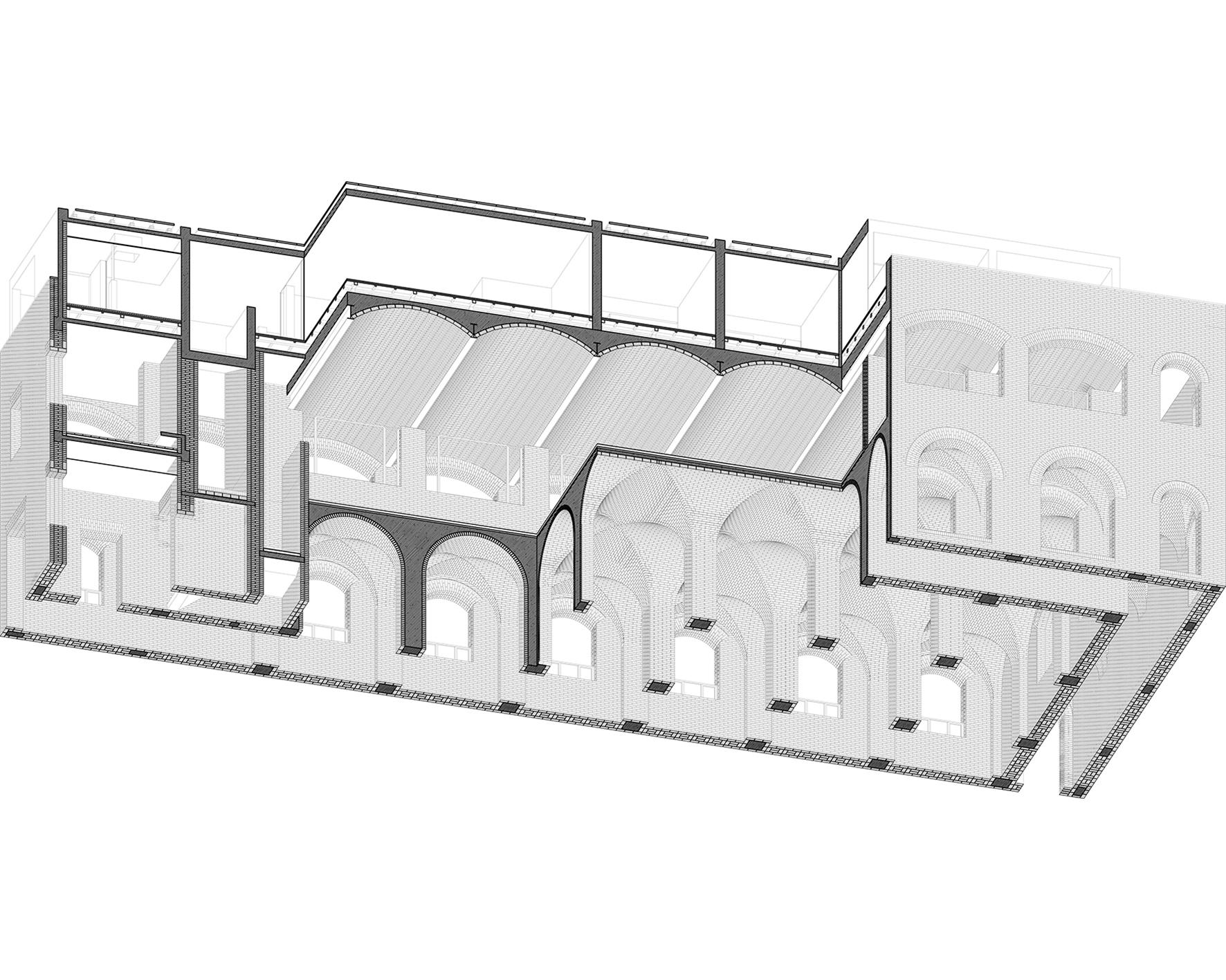 主體建筑剖軸側  Sectional-axonof the main building.jpg