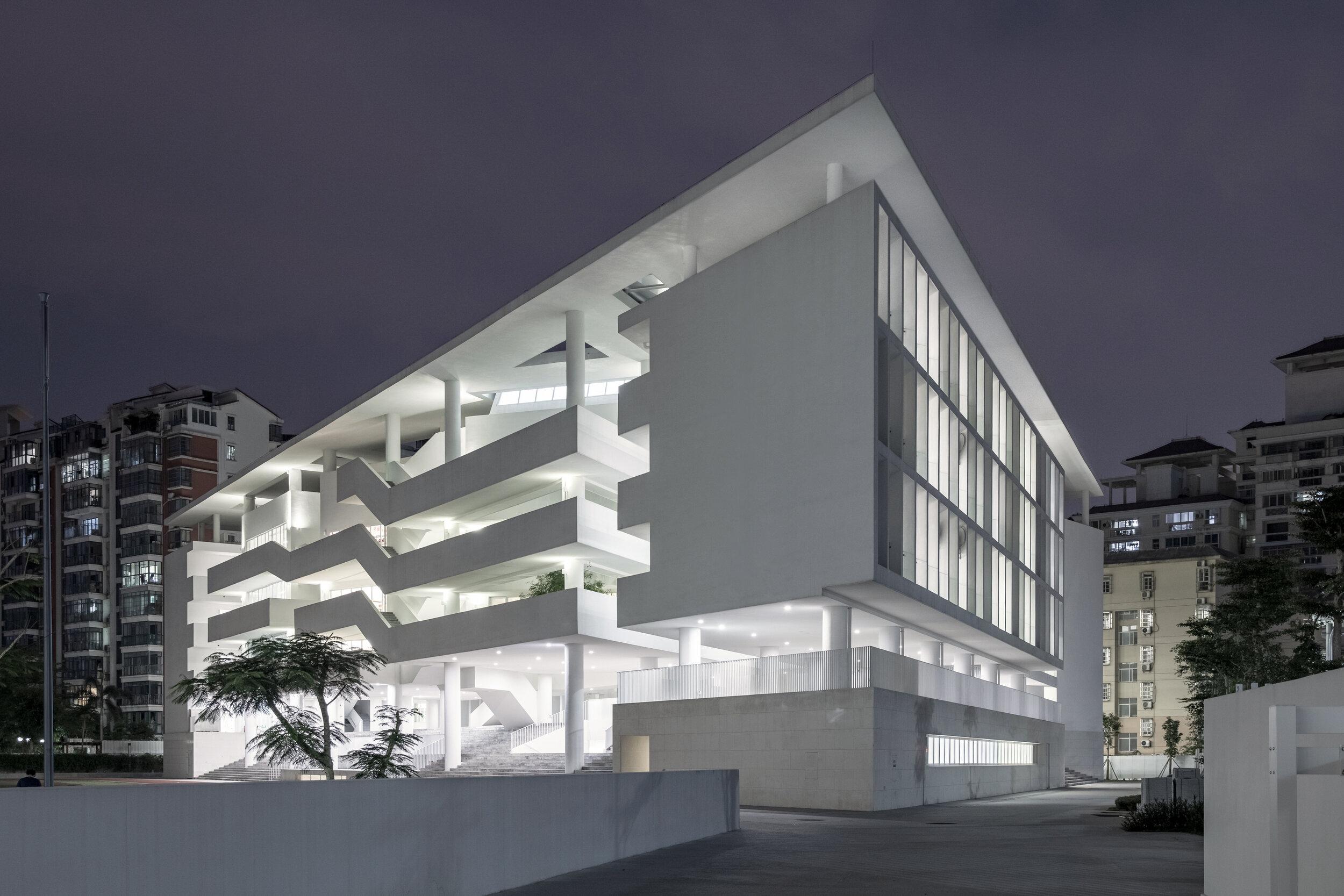 36 教學樓夜景 ?是然建筑攝影 Night view of the teaching block ?Schran Images.jpg