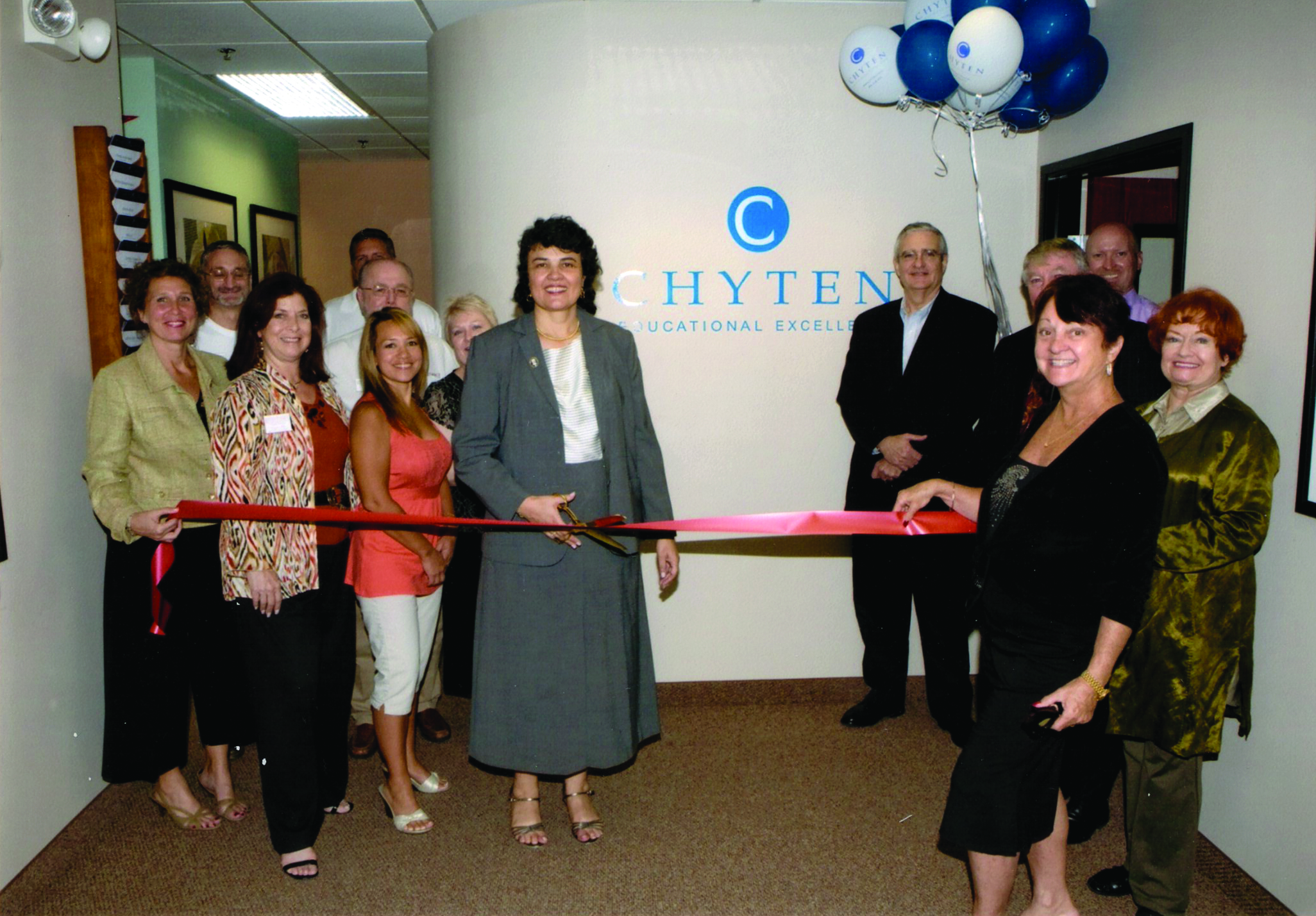 The ribbon cutting at our grand opening in 2008