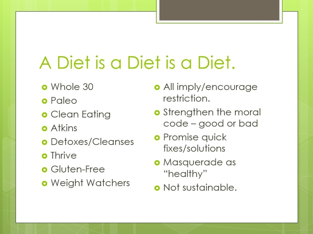 Different Types of Diets - From  Break the Mold Course