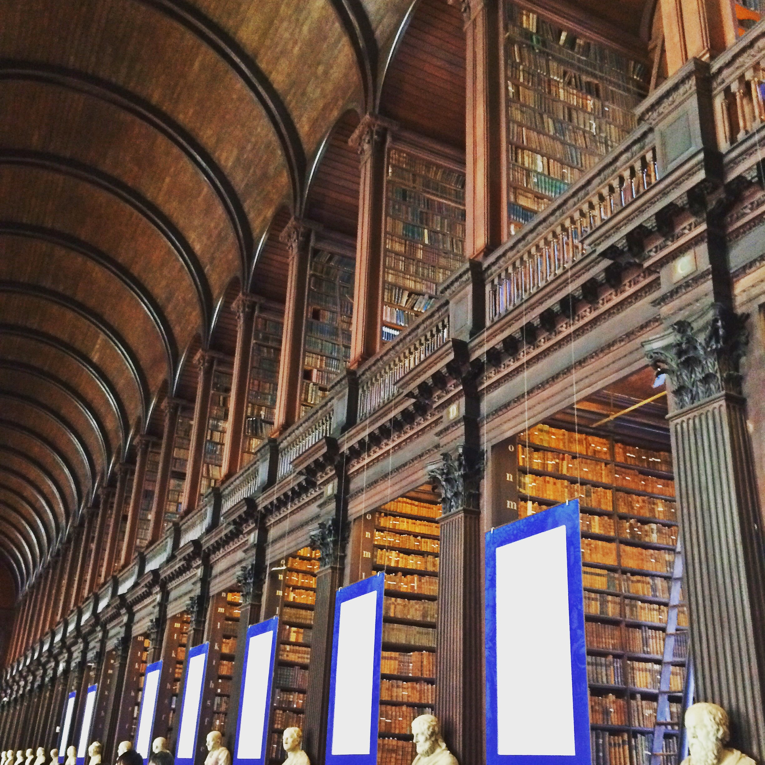 The Trinity College Library in Dublin, Ireland (March 2015).