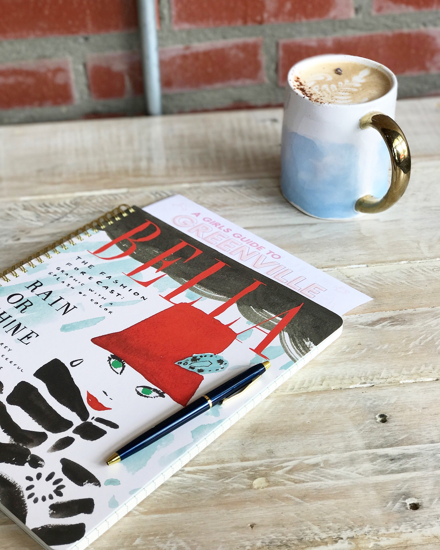 My favorite new  Kate Spade  notebook assisted in the photo shoot.