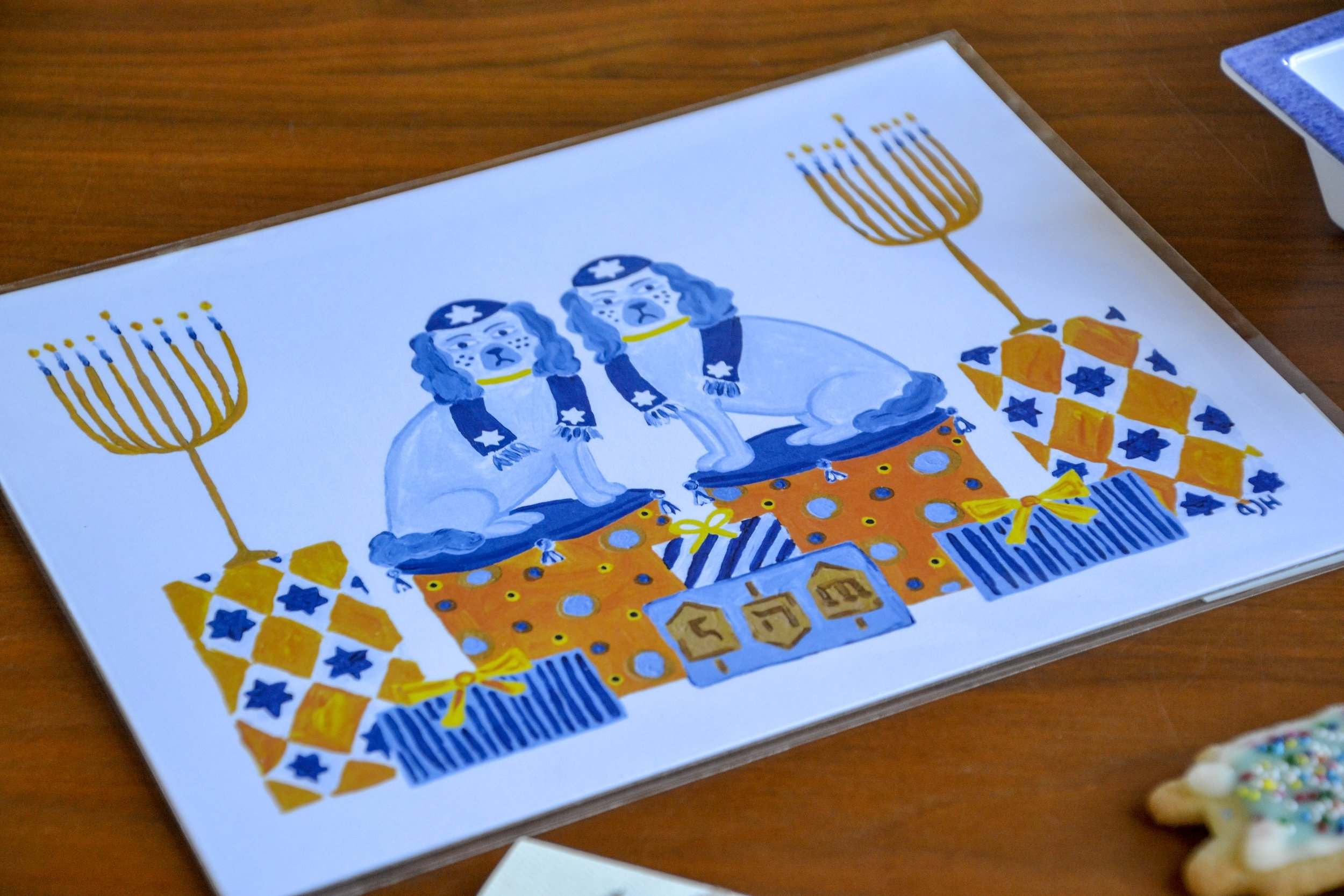 Latke and Knish Print : Alyssa Harris of  Willa Heart
