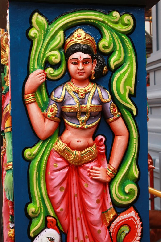 One of the many of hundreds of Hindu gods. Colorful, but almost cartoon like.