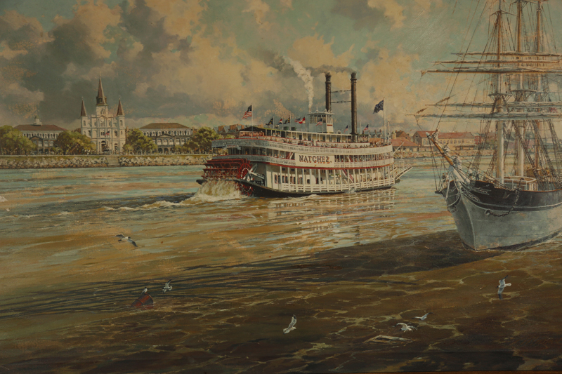 Old rendition of what the past looked like…so many riverboats back then.