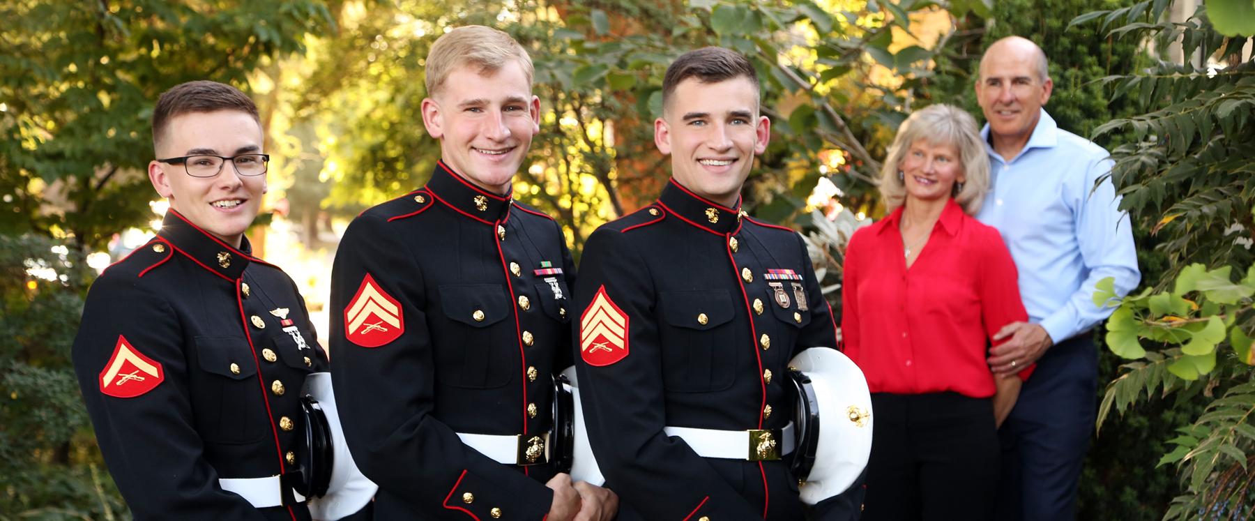 Military discount family portraits Eugene Oregon sons Marines.jpg