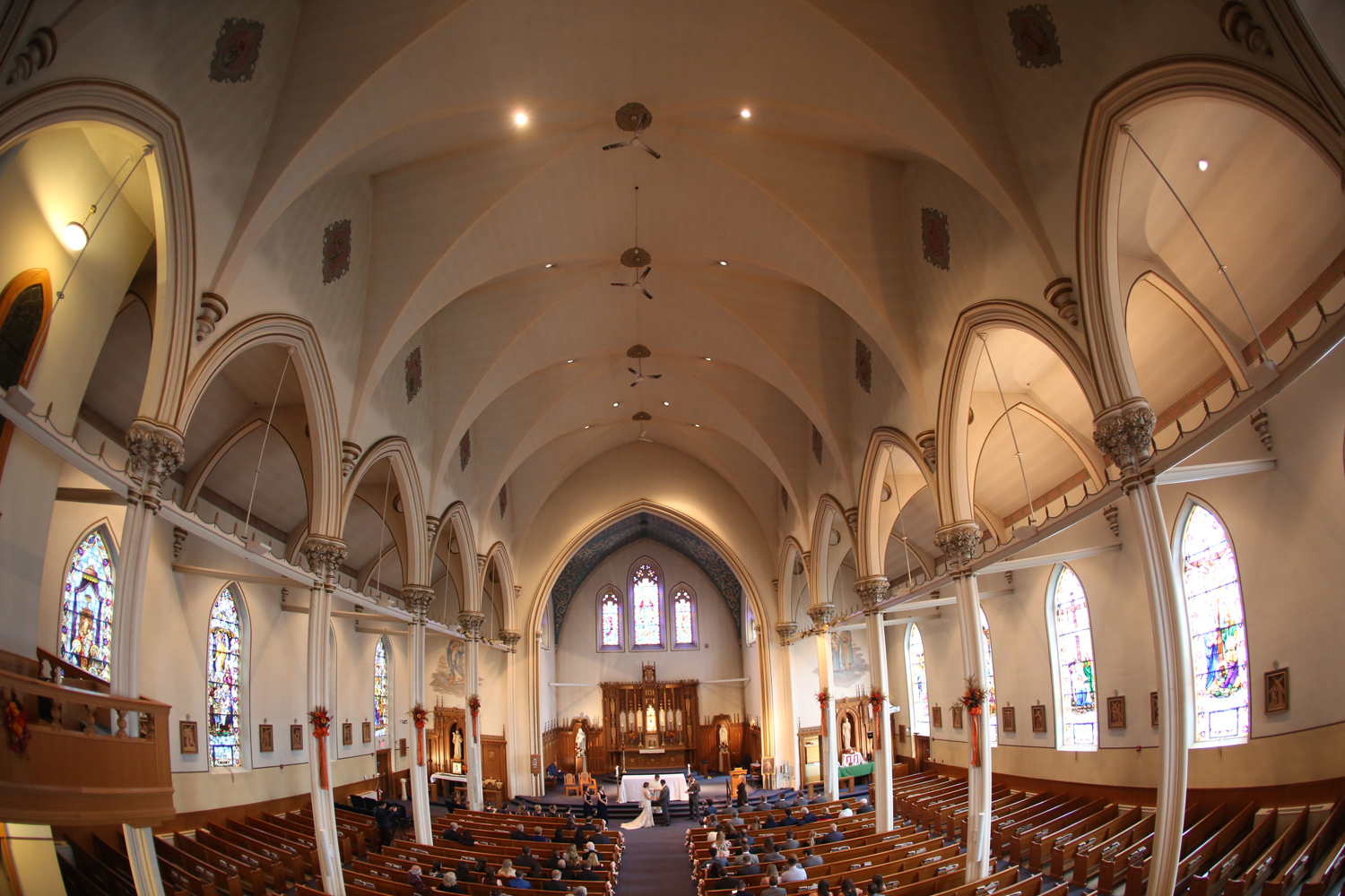 I used a Fish Eye lens to capture the majesty of this beautiful church.