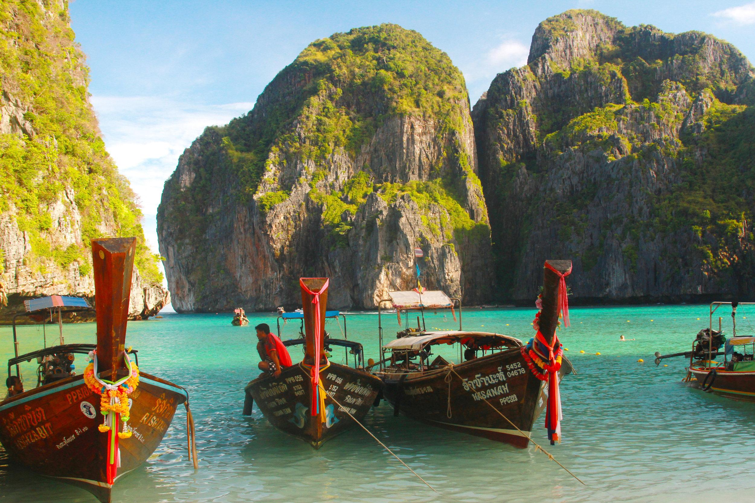 Maya Beach Phi Phi Islands near Krabi and  Phuket Thailand (86).jpg