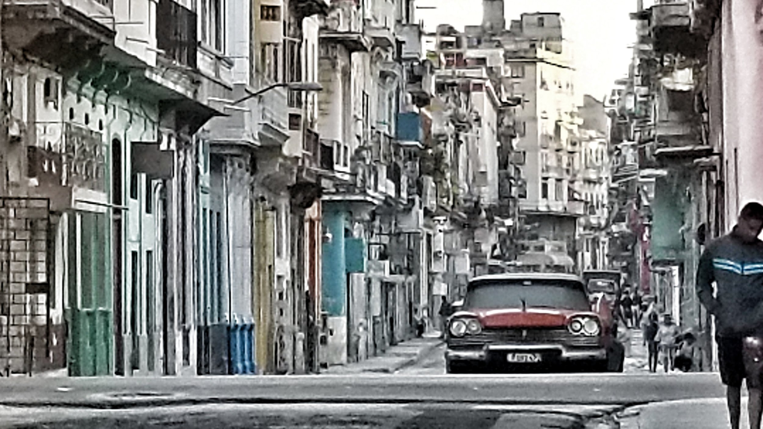 Typical Street scene in old Habana Cuba