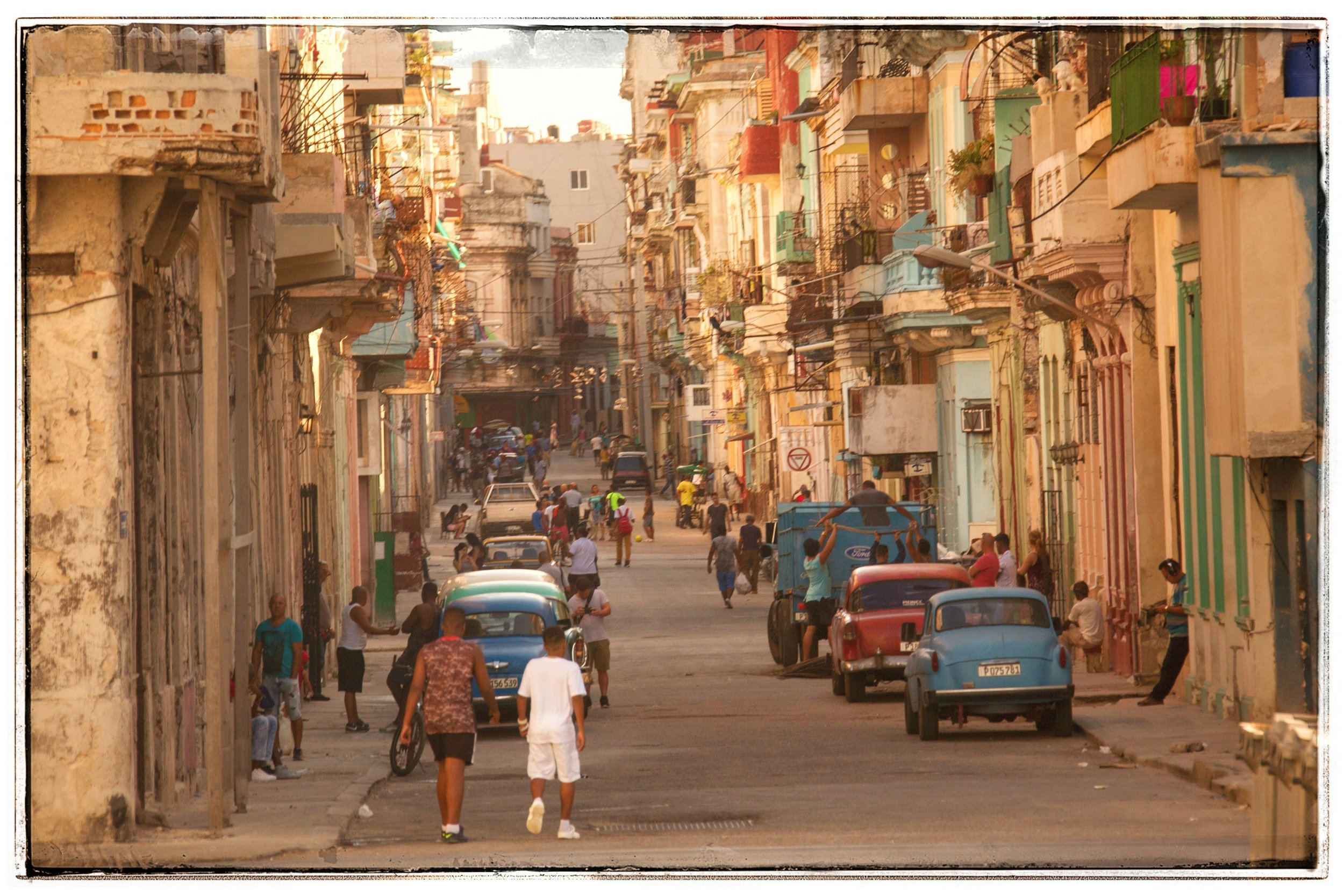 Typical street scene in old Havana.