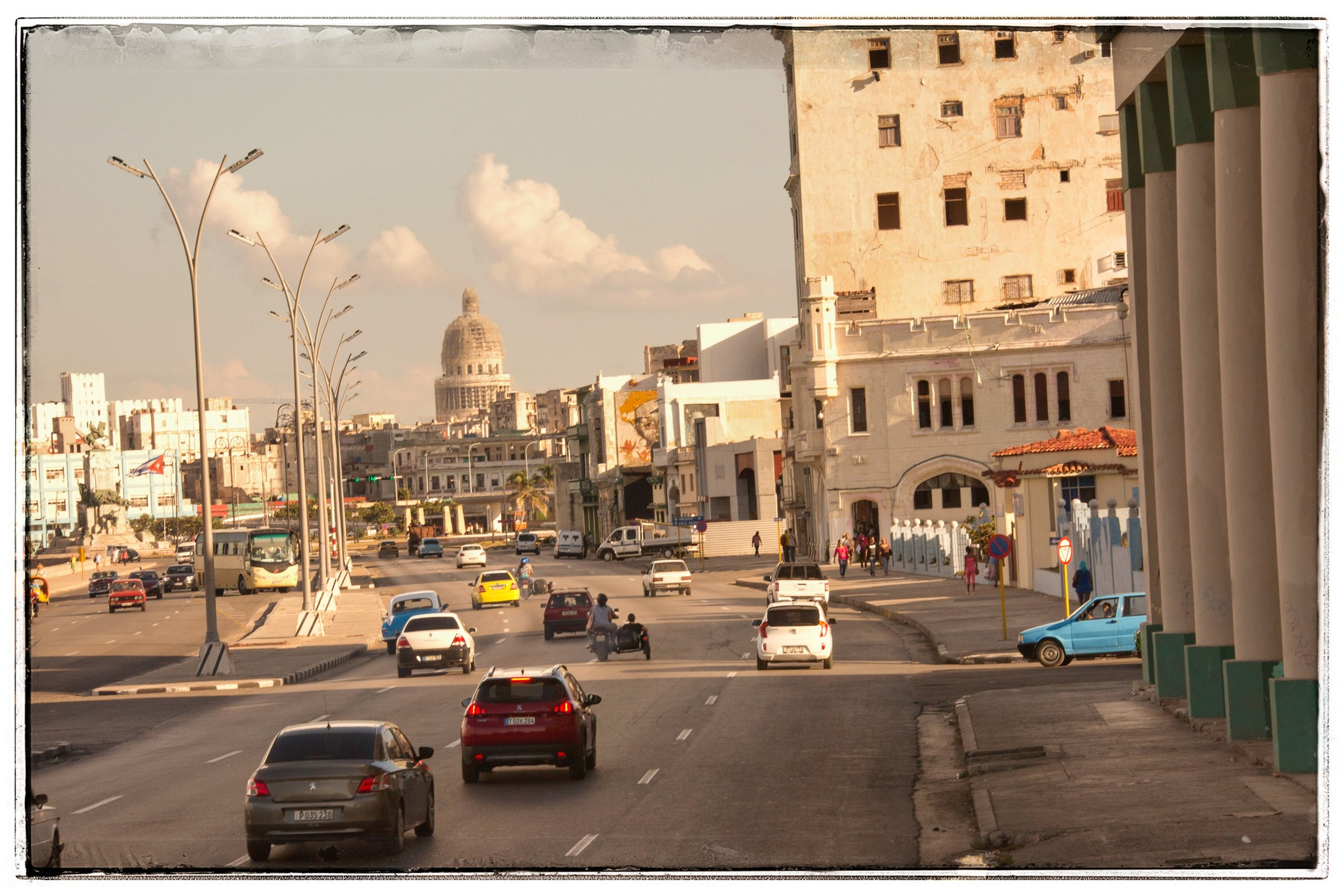The downtown center part of Havana.