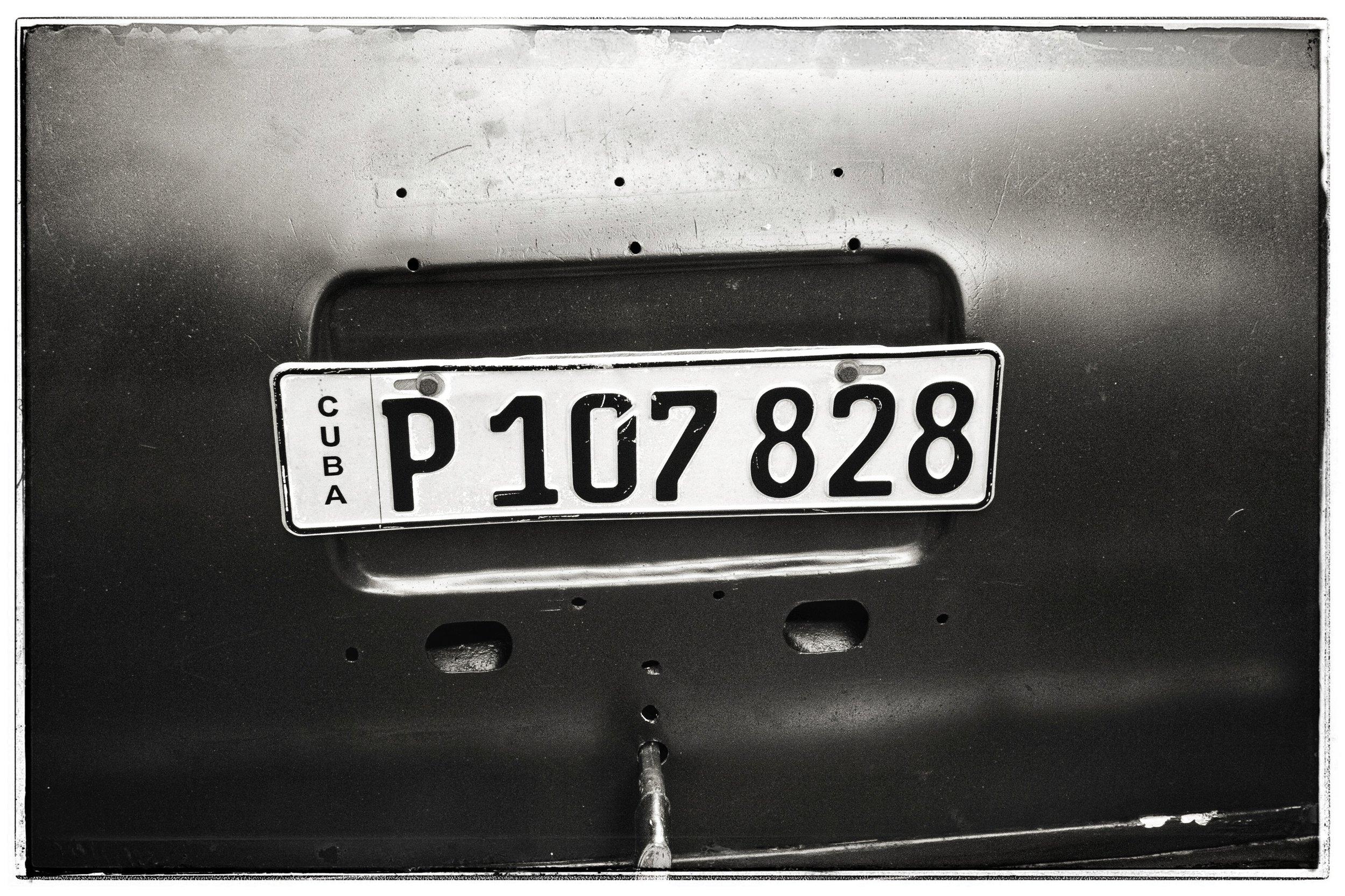 Simple license plates.
