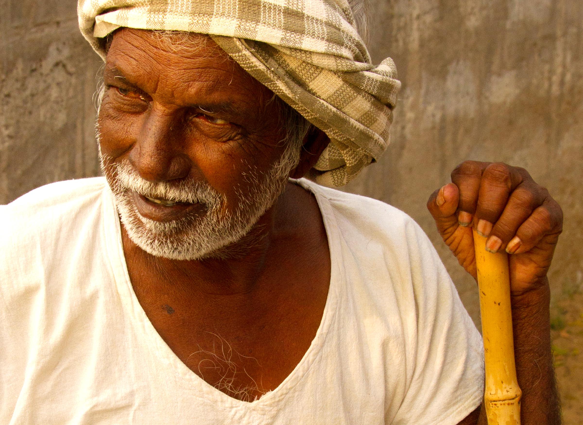 Old man in India Vijayawada
