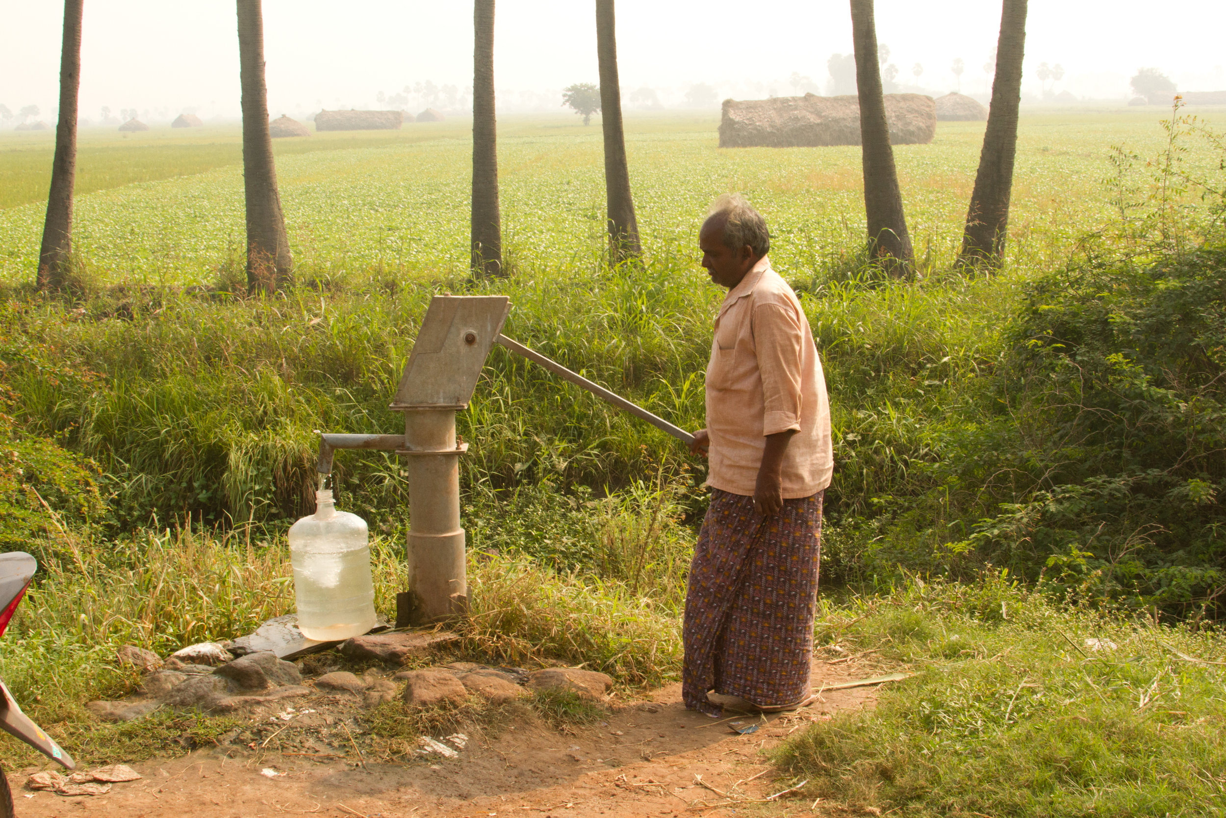 The water well we put in a few years ago. Clean and fresh and saves them from walking miles to get water.