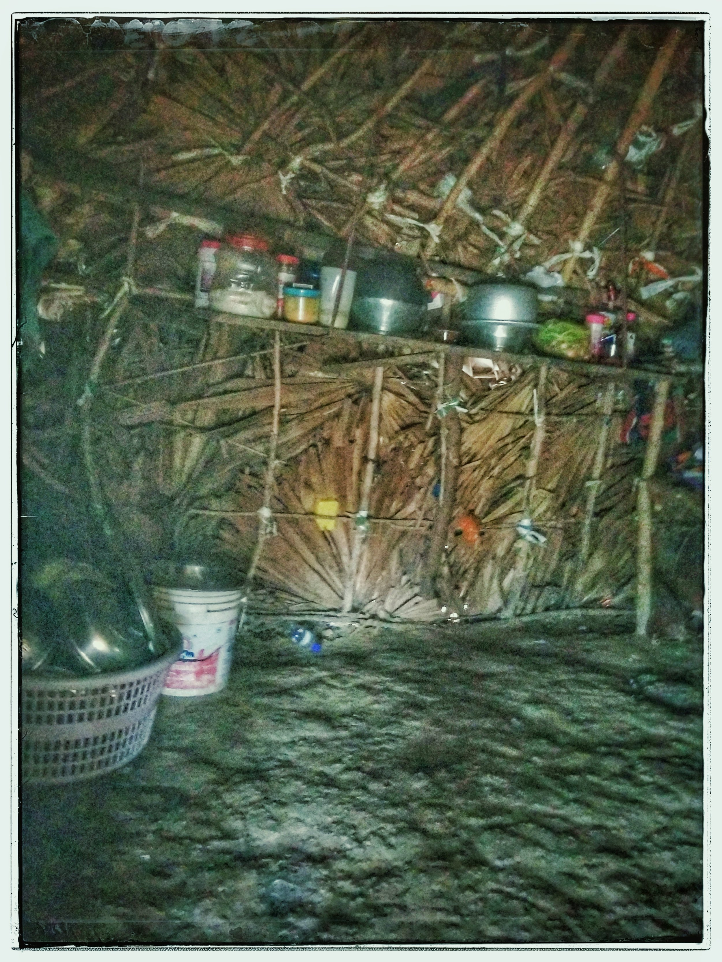 Inside a typical untouchable hut.