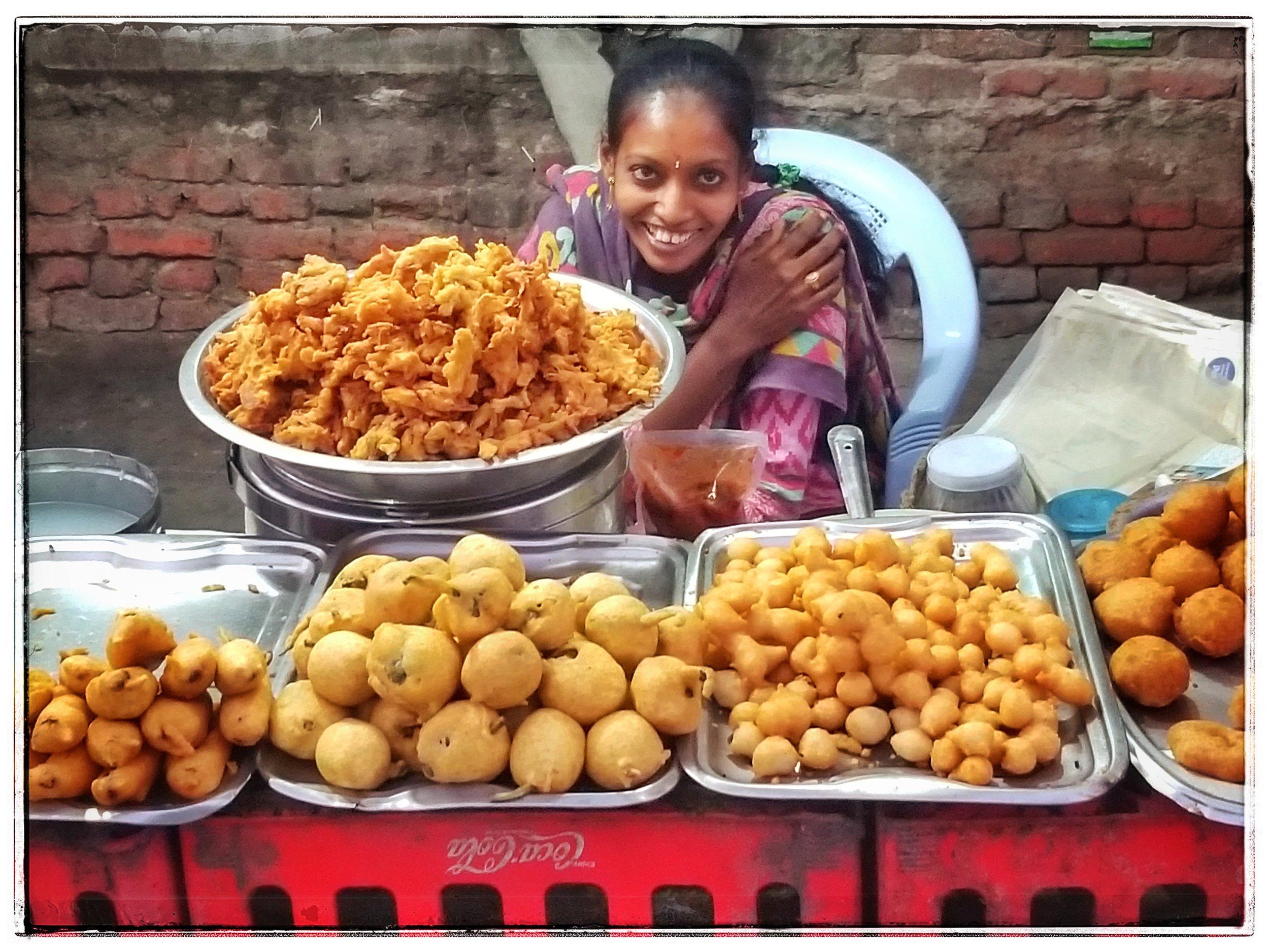 Street vendor..