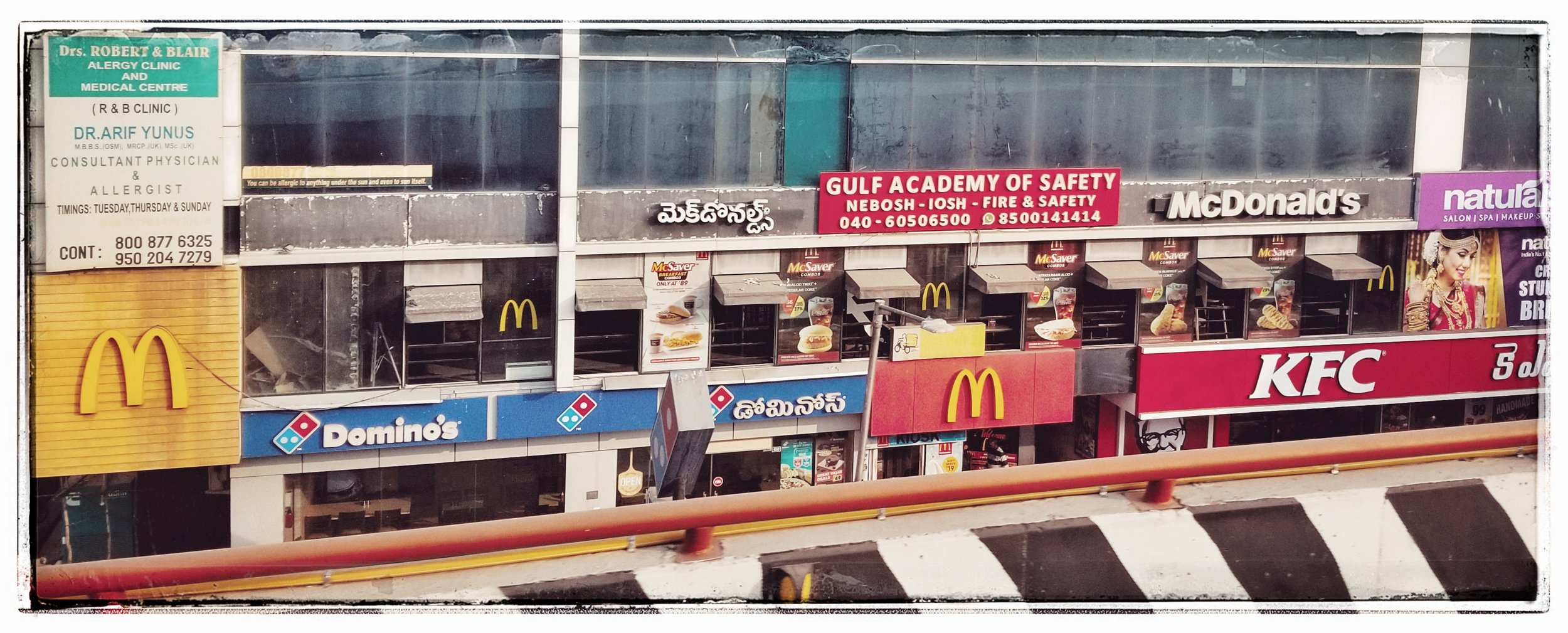 American fast food in India.
