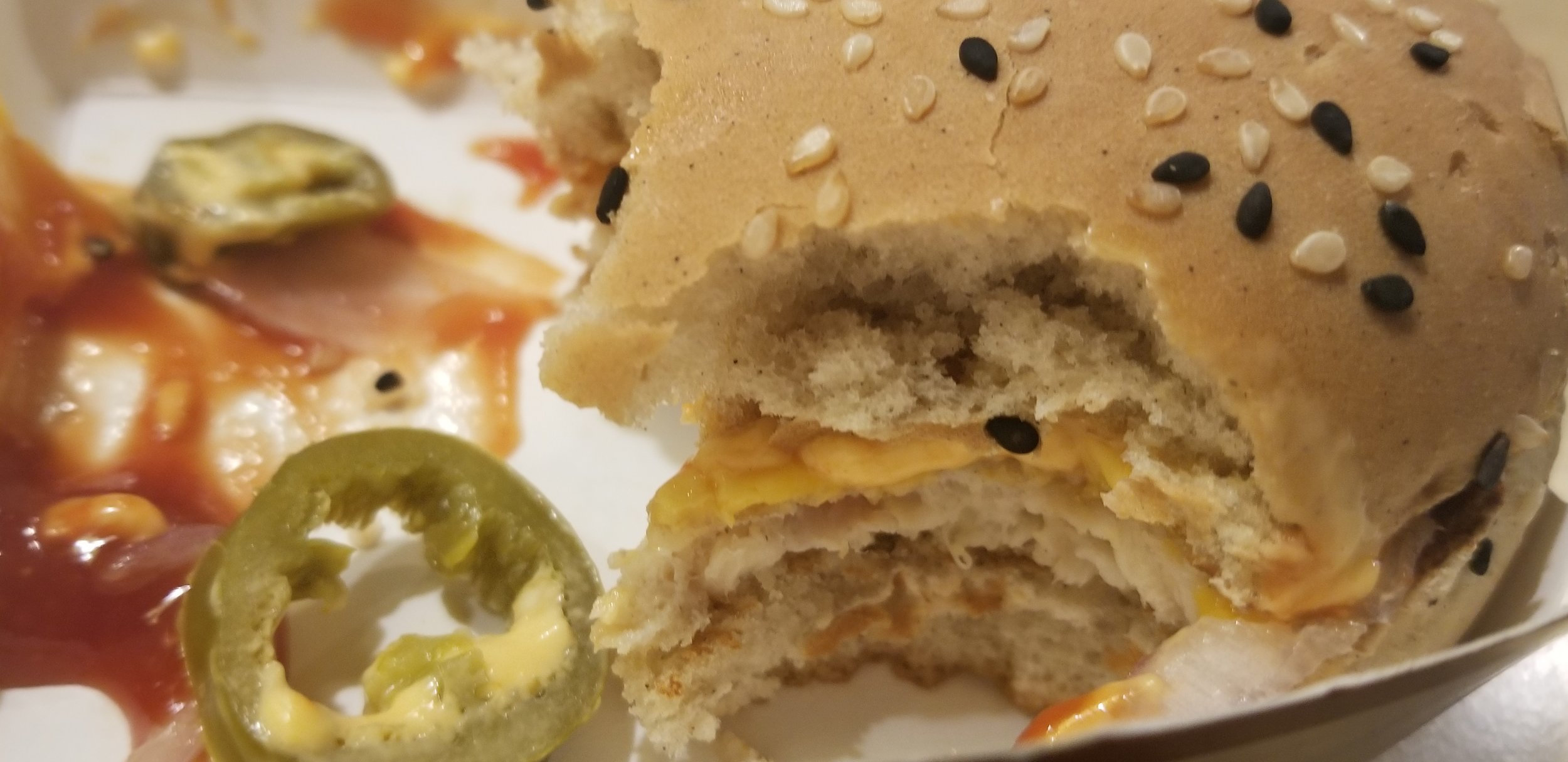 McDonalds All American burger was spicy.